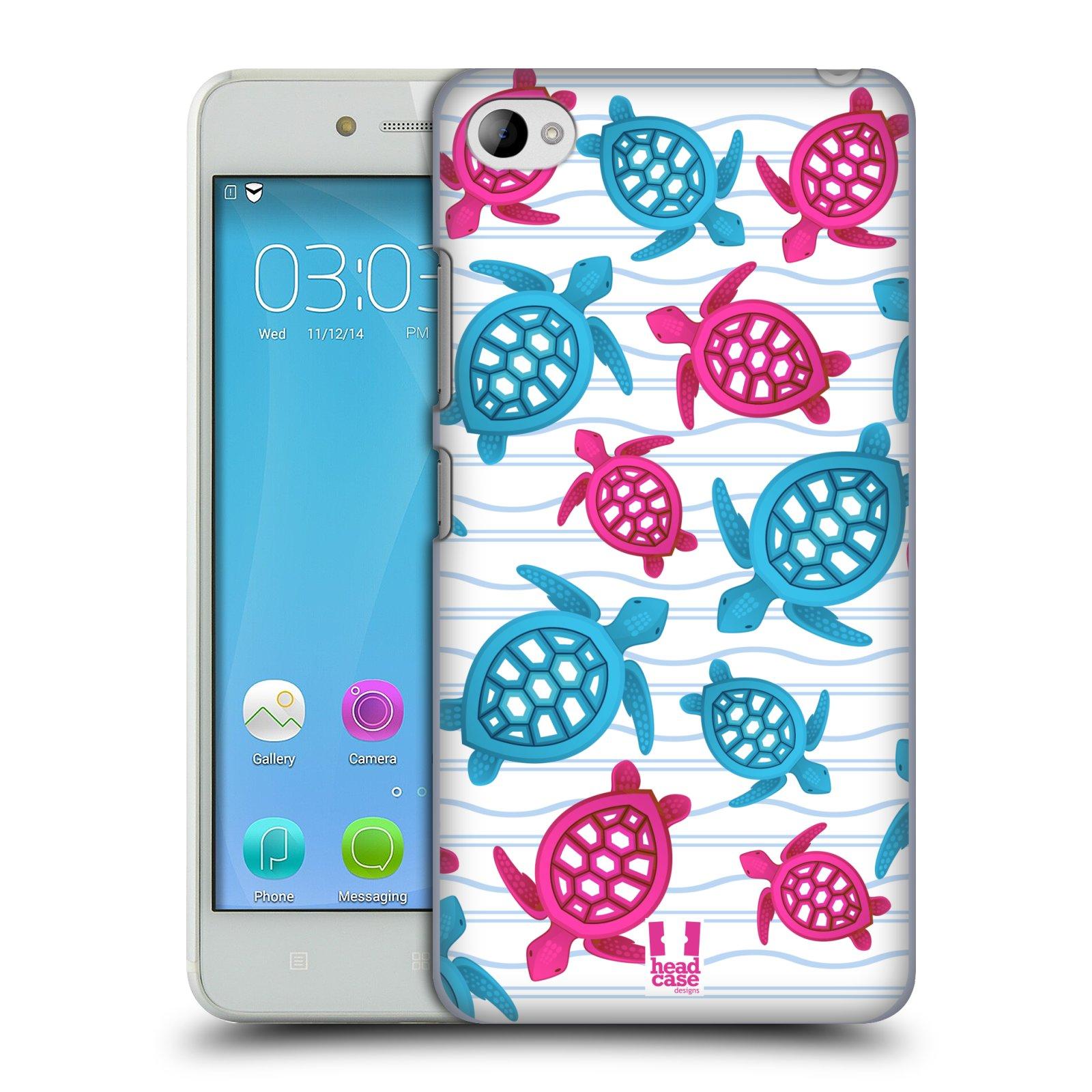 HEAD CASE pevný plastový obal na mobil LENOVO S90 vzor mořský živočich želva modrá a růžová