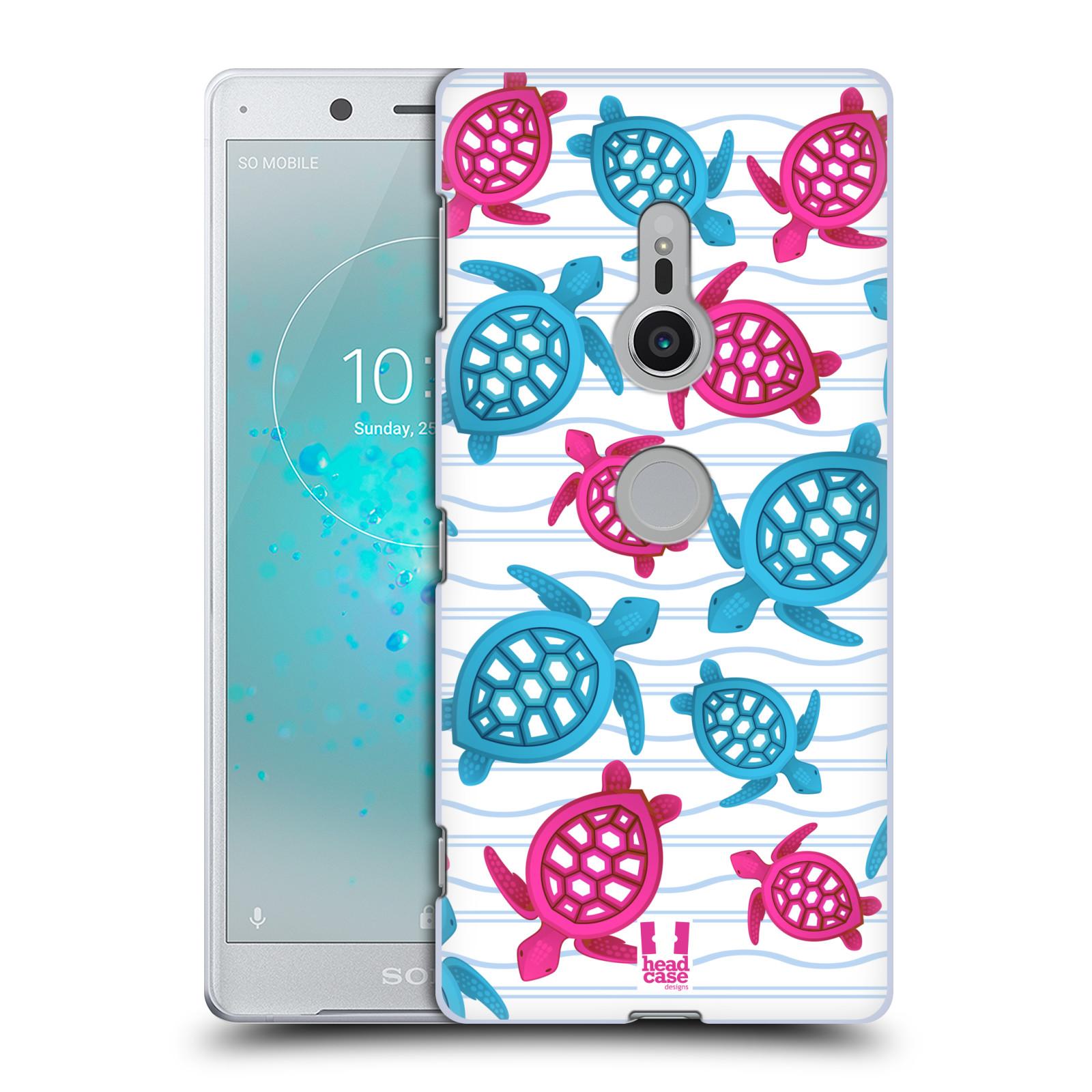 HEAD CASE plastový obal na mobil Sony Xperia XZ2 vzor mořský živočich želva modrá a růžová