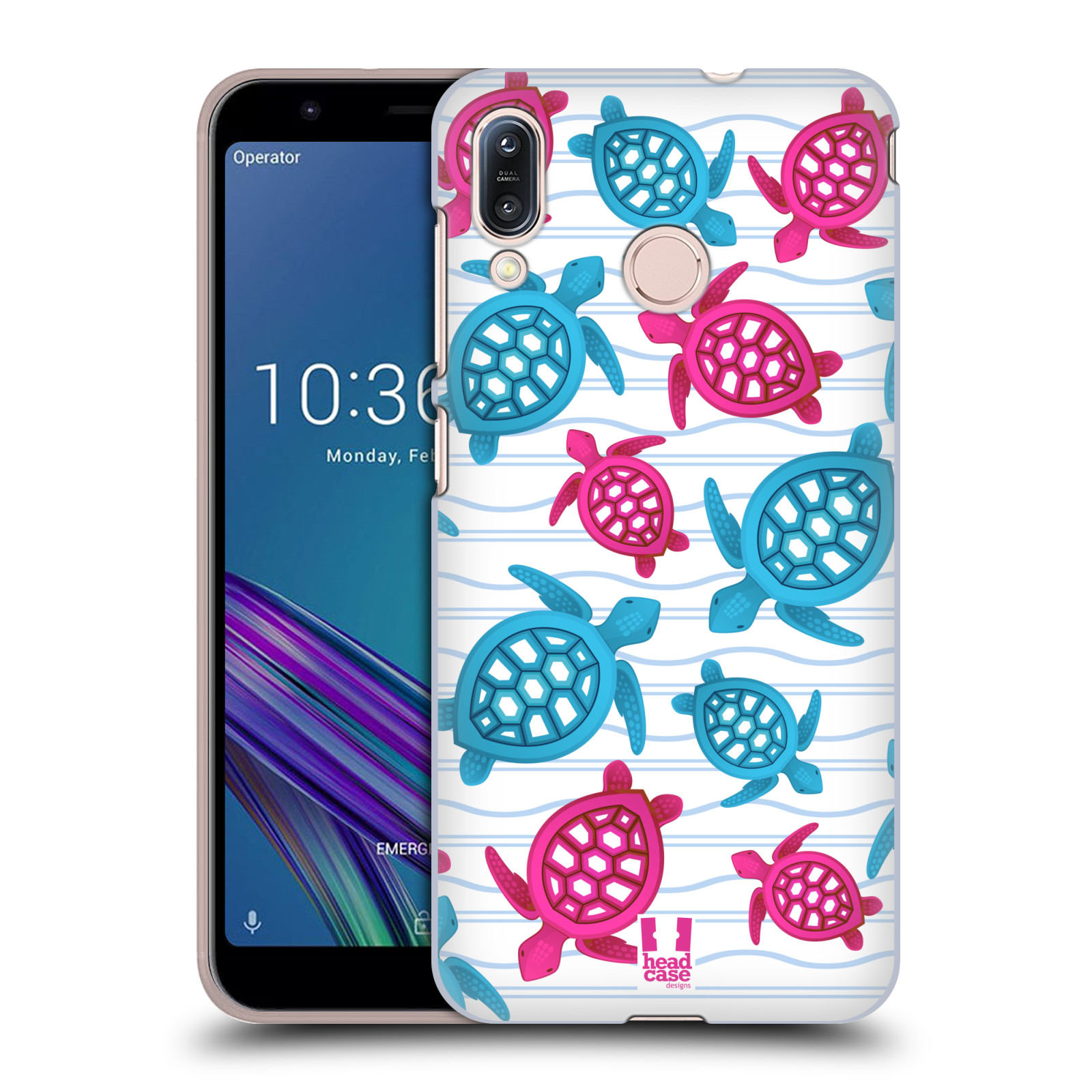 Pouzdro na mobil Asus Zenfone Max M1 (ZB555KL) - HEAD CASE - vzor mořský živočich želva modrá a růžová