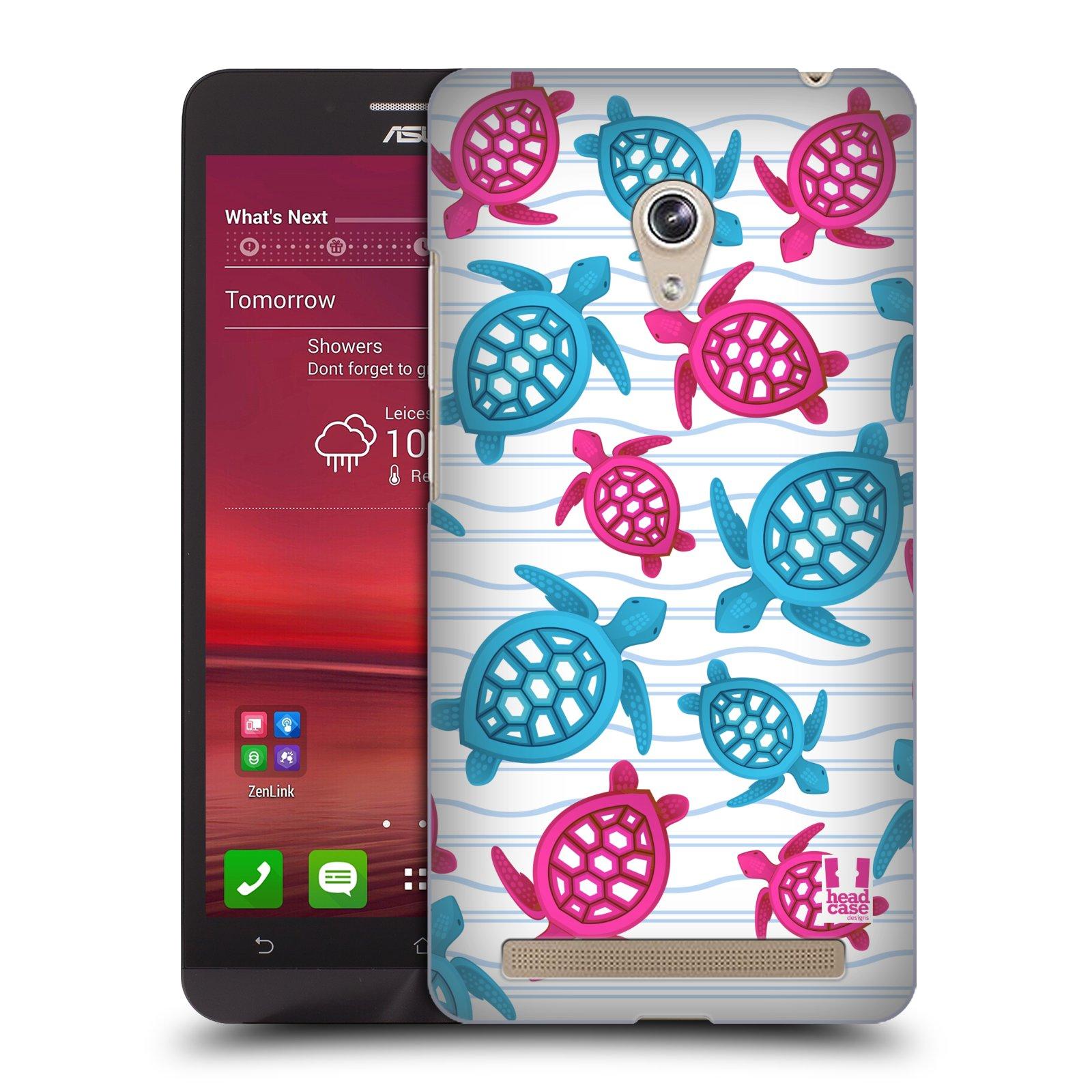 HEAD CASE plastový obal na mobil Asus Zenfone 6 vzor mořský živočich želva modrá a růžová