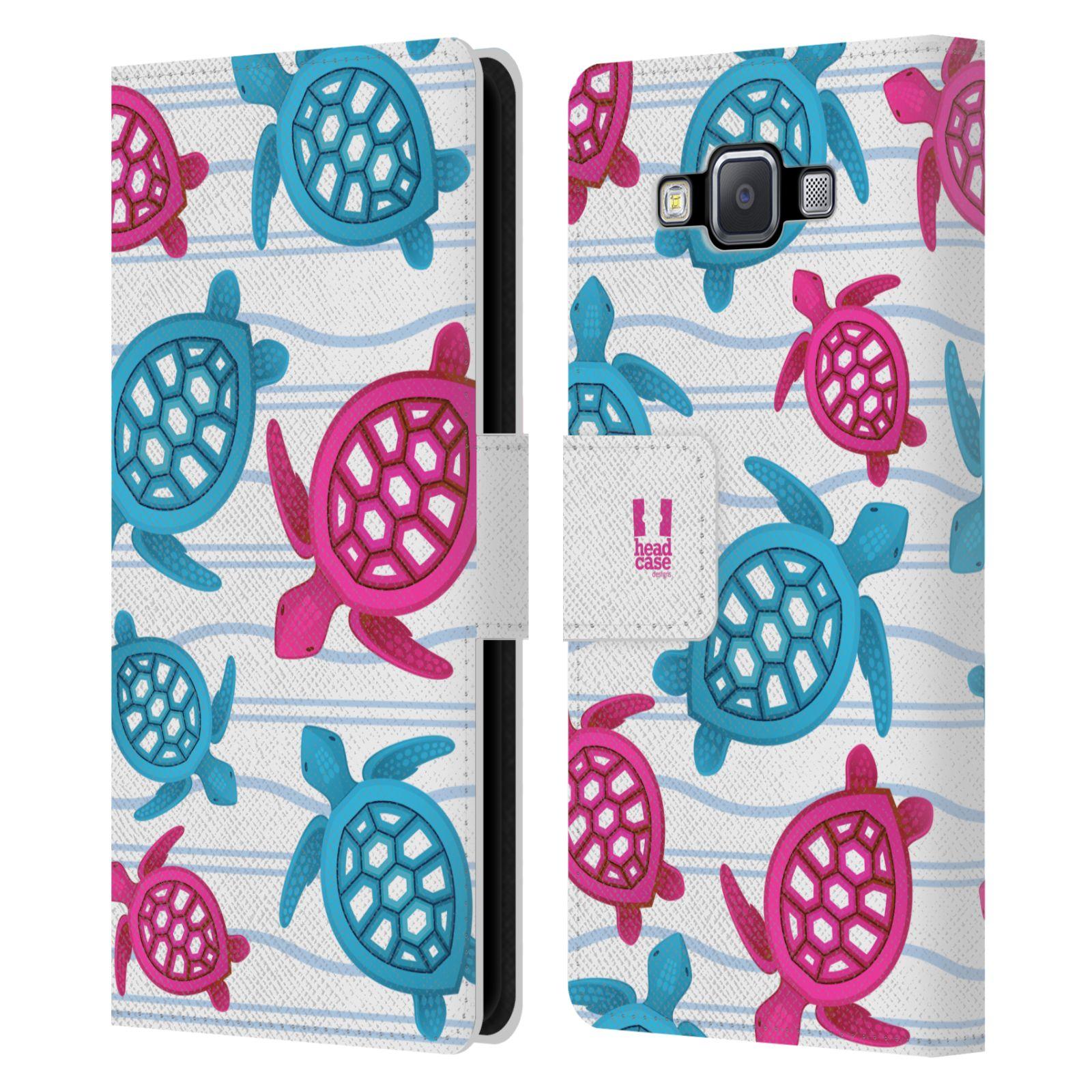 HEAD CASE Flipové pouzdro pro mobil Samsung Galaxy A5 Mořský živočich malé želvičky
