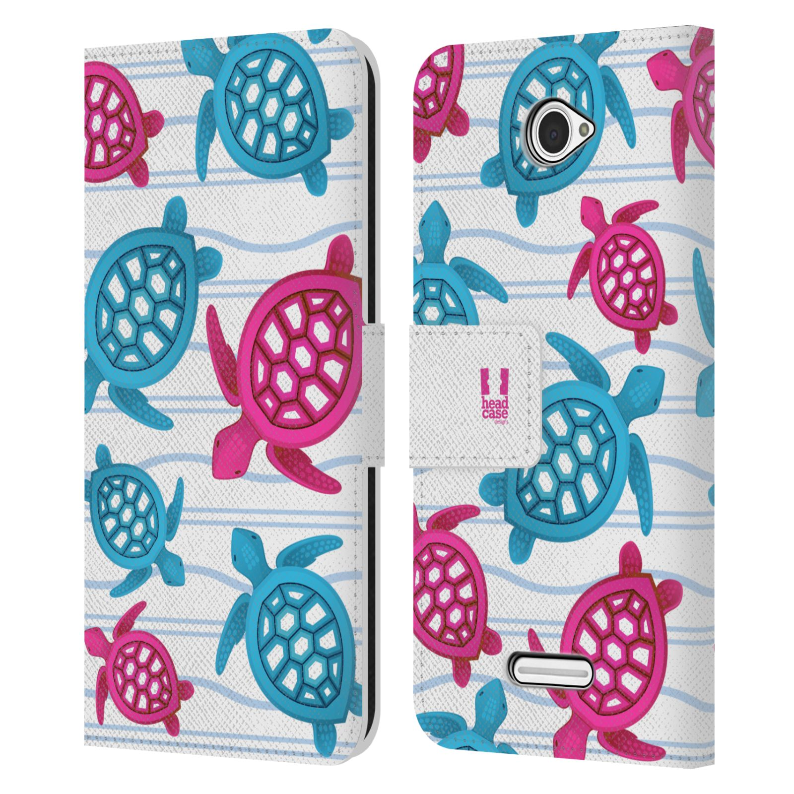 HEAD CASE Flipové pouzdro pro mobil SONY XPERIA E4 Mořský živočich malé želvičky
