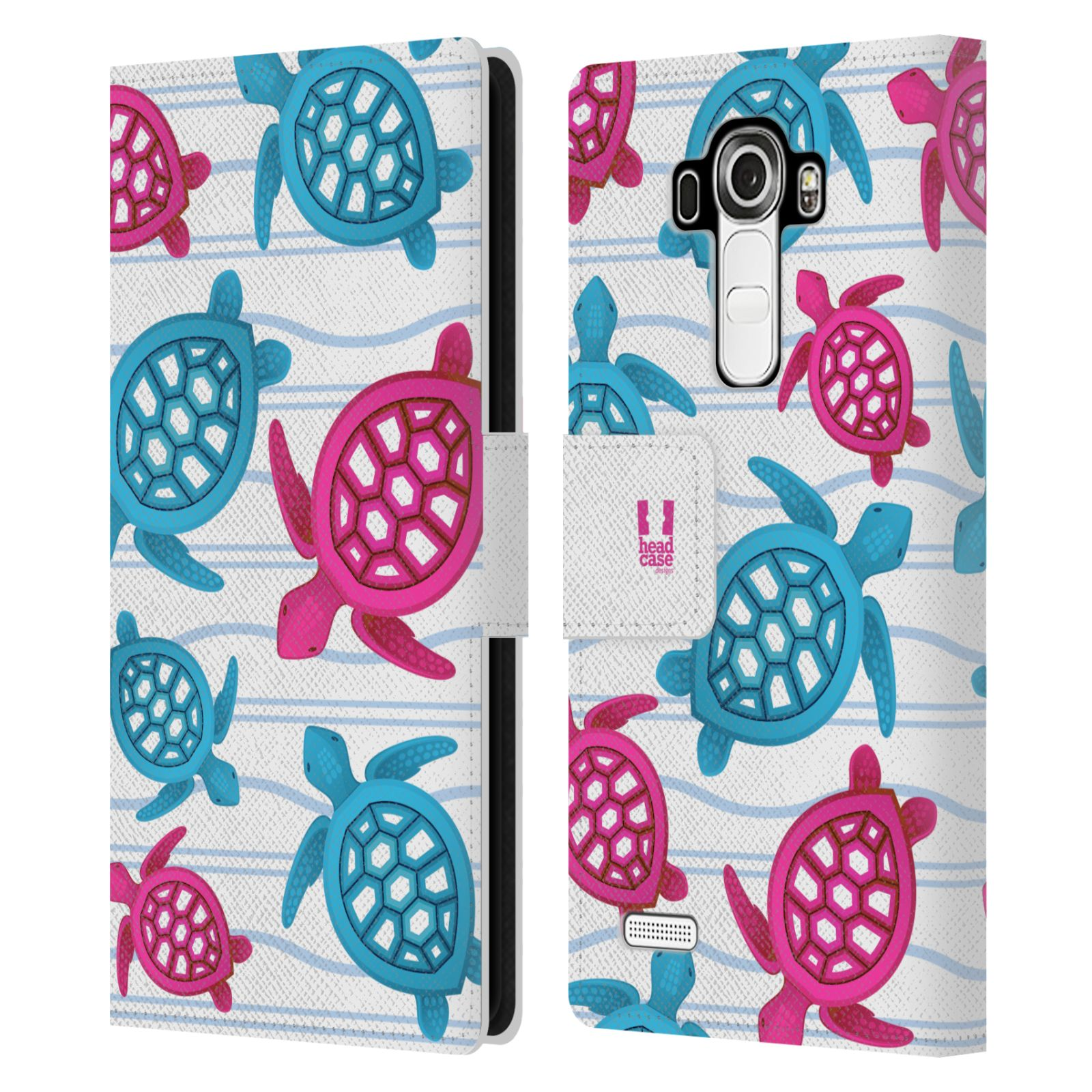 HEAD CASE Flipové pouzdro pro mobil LG G4 (H815) Mořský živočich malé želvičky