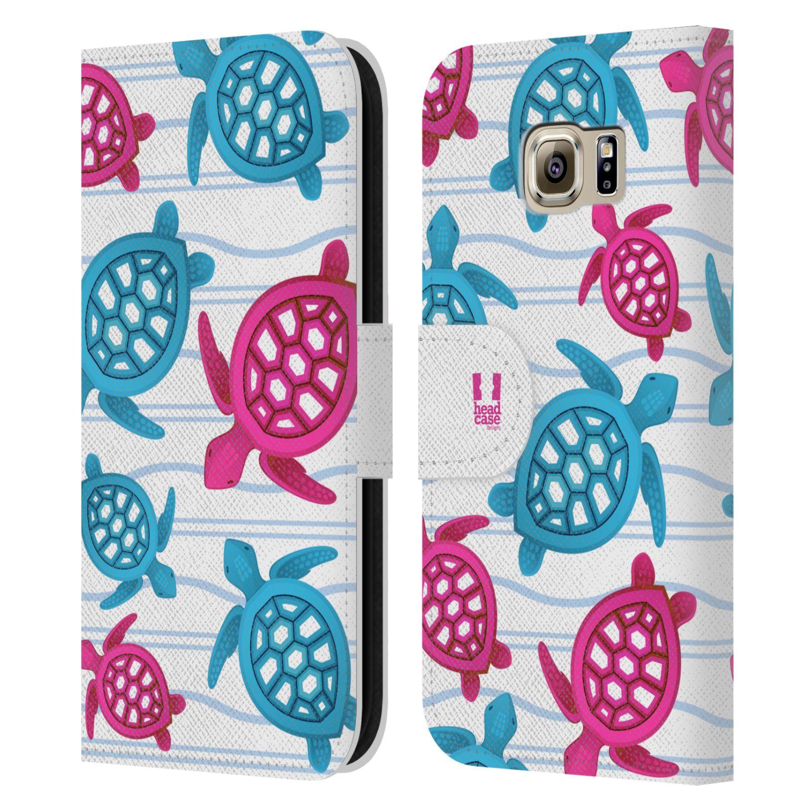 HEAD CASE Flipové pouzdro pro mobil Samsung Galaxy S6 (G9200) Mořský živočich malé želvičky