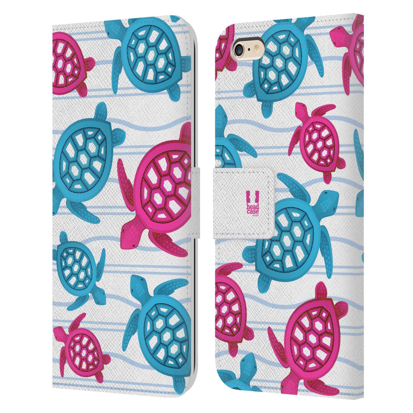 HEAD CASE Flipové pouzdro pro mobil Apple Iphone 6 PLUS / 6S PLUS Mořský živočich malé želvičky