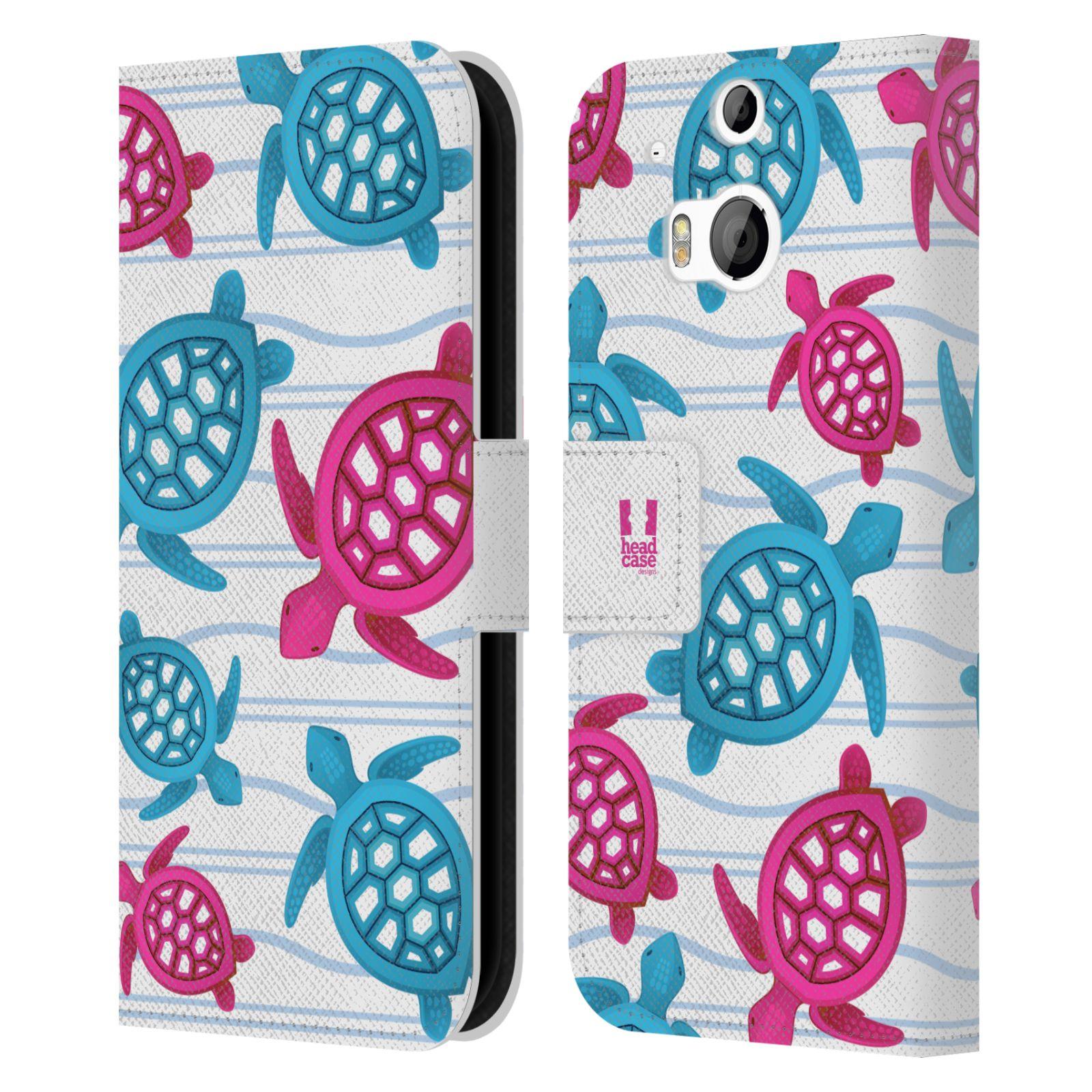 HEAD CASE Flipové pouzdro pro mobil HTC ONE (M8, M8s) Mořský živočich malé želvičky