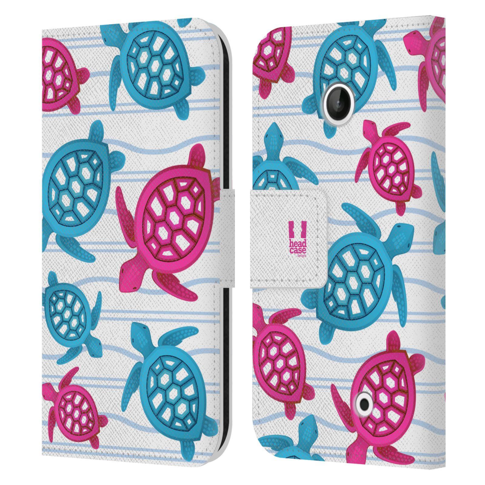 HEAD CASE Flipové pouzdro pro mobil NOKIA LUMIA 630 / LUMIA 630 DUAL Mořský živočich malé želvičky