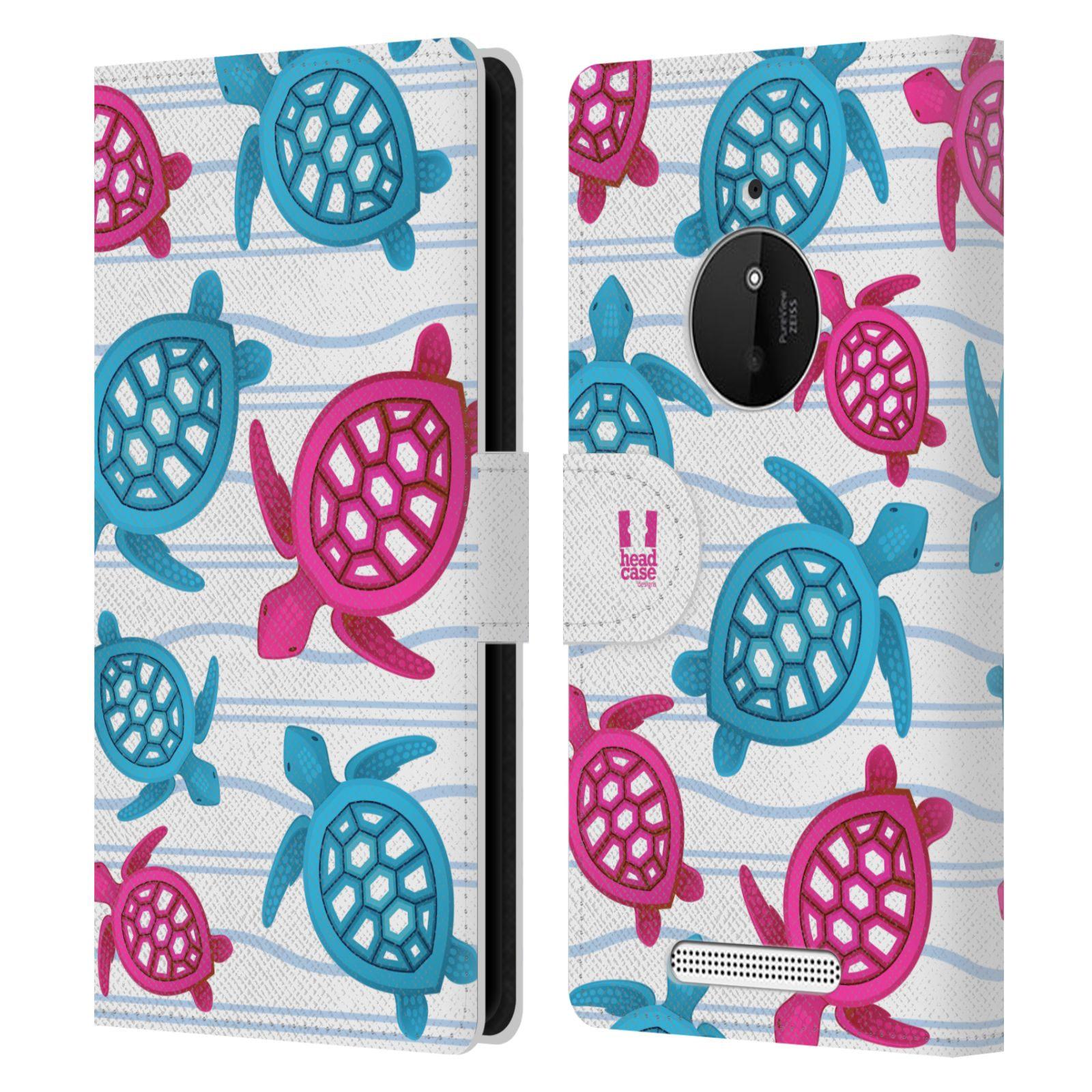 HEAD CASE Flipové pouzdro pro mobil NOKIA LUMIA 830 Mořský živočich malé želvičky