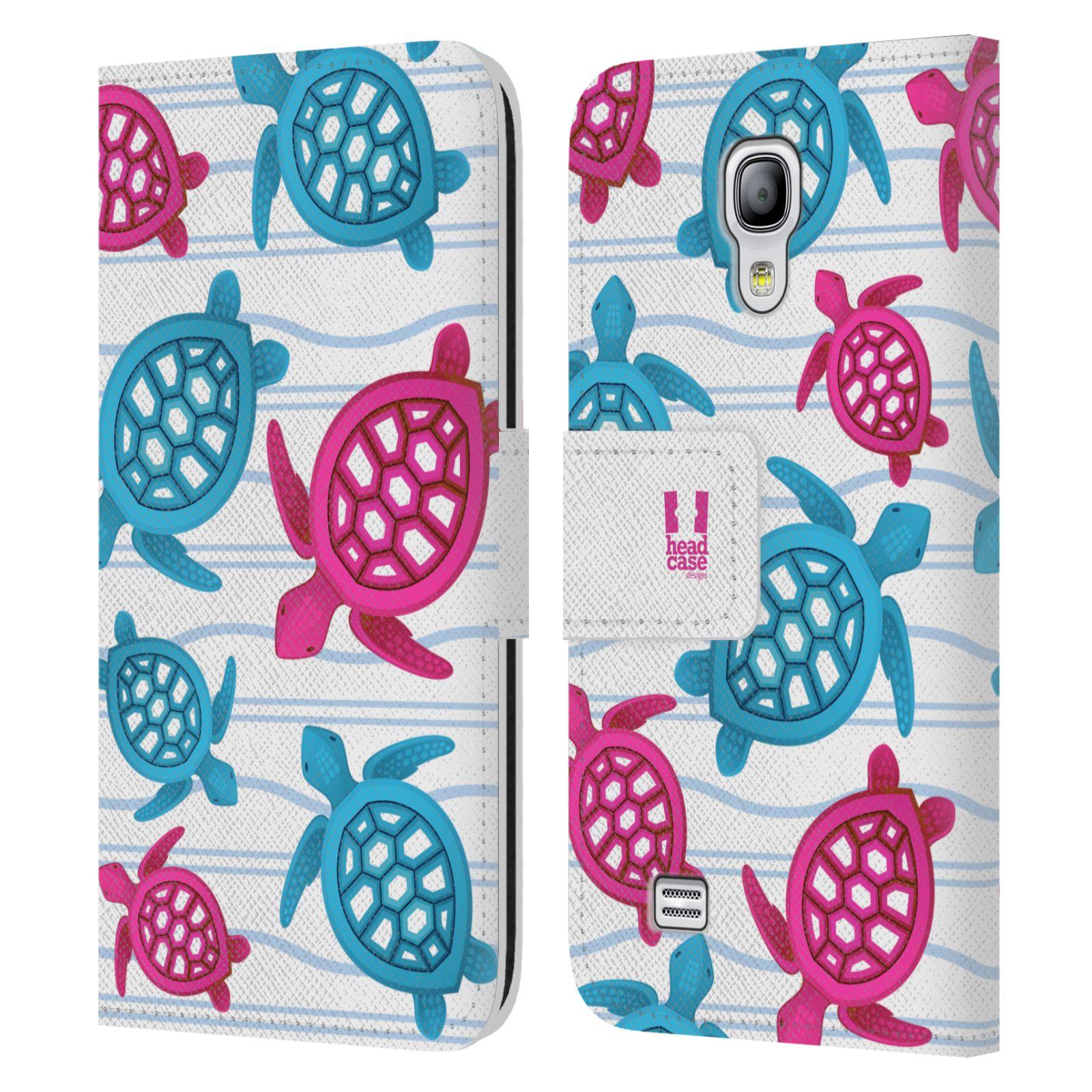 HEAD CASE Flipové pouzdro pro mobil Samsung Galaxy S4 MINI / S4 MINI DUOS Mořský živočich malé želvičky