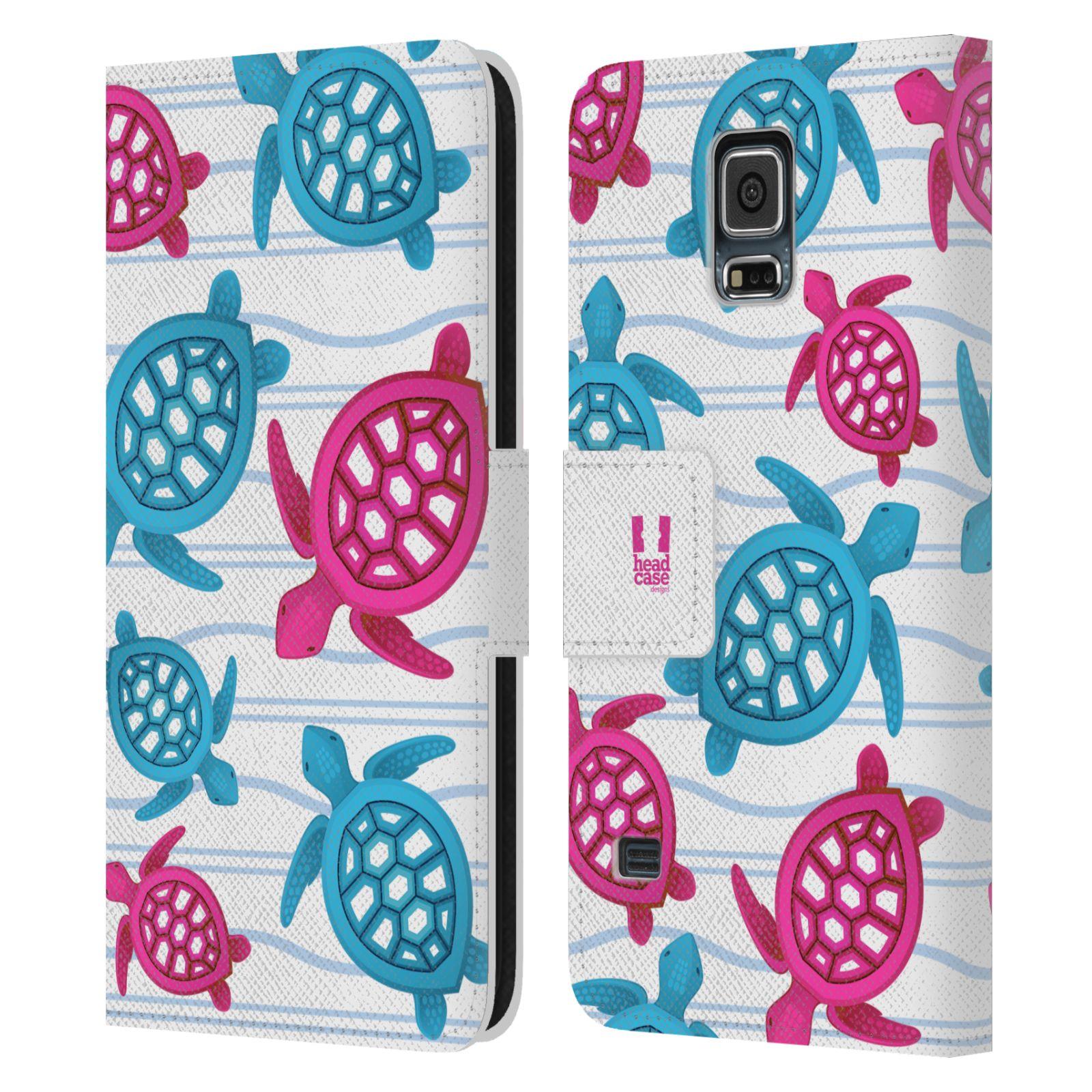 HEAD CASE Flipové pouzdro pro mobil Samsung Galaxy S5 / S5 NEO Mořský živočich malé želvičky