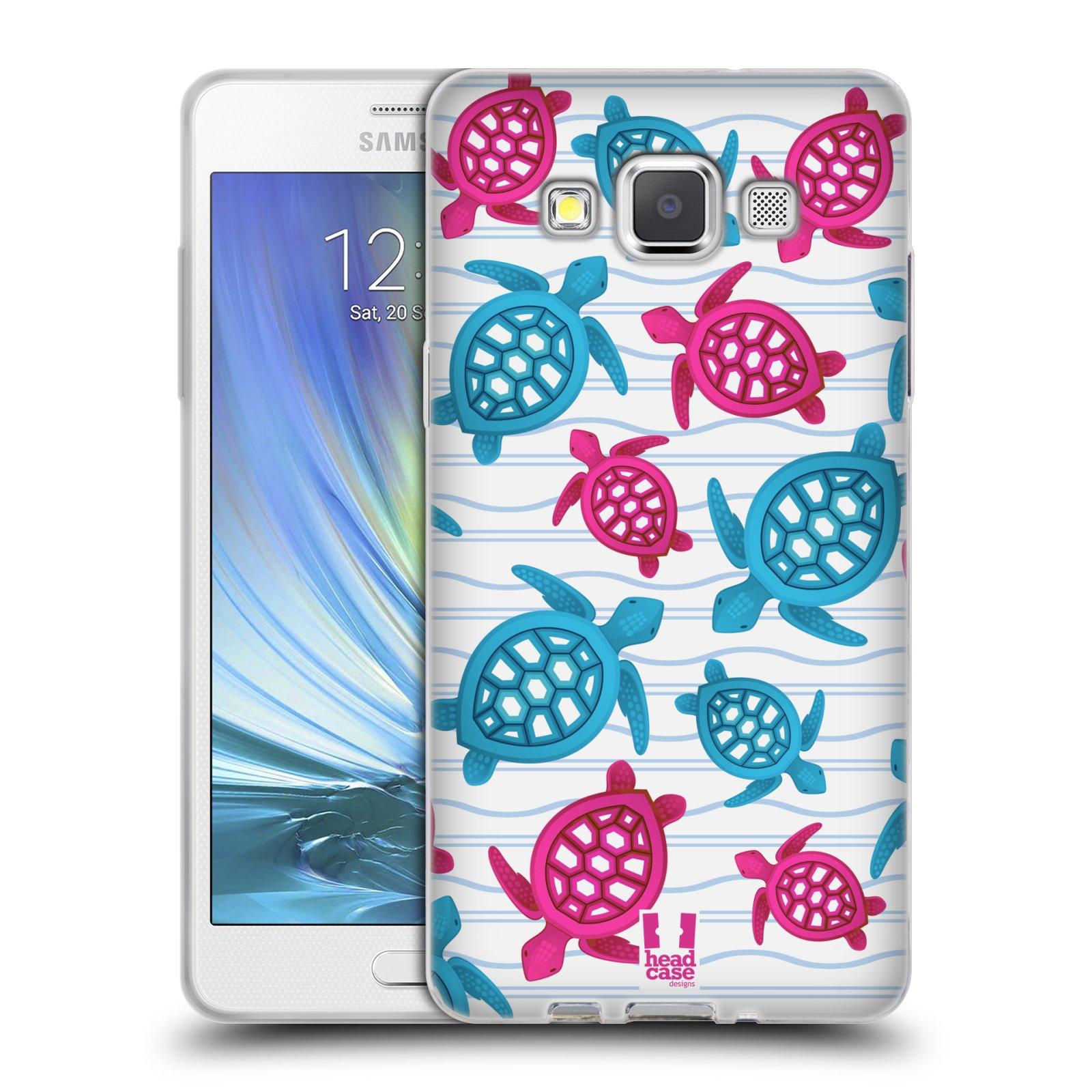 HEAD CASE silikonový obal na mobil Samsung Galaxy A5 vzor mořský živočich želva modrá a růžová