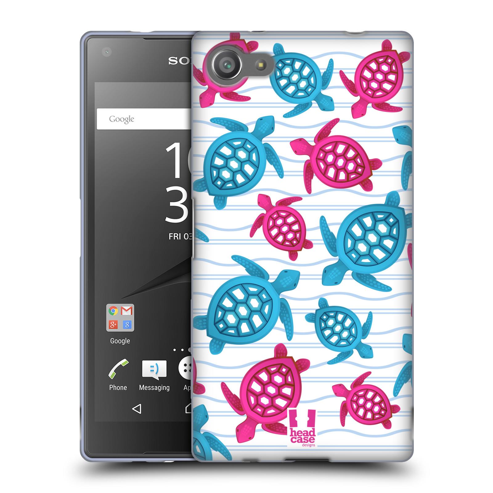 HEAD CASE silikonový obal na mobil Sony Xperia Z5 COMPACT vzor mořský živočich želva modrá a růžová