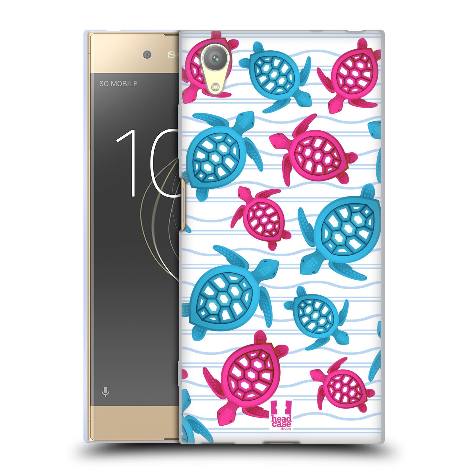 HEAD CASE silikonový obal na mobil Sony Xperia XA1 PLUS vzor mořský živočich želva modrá a růžová