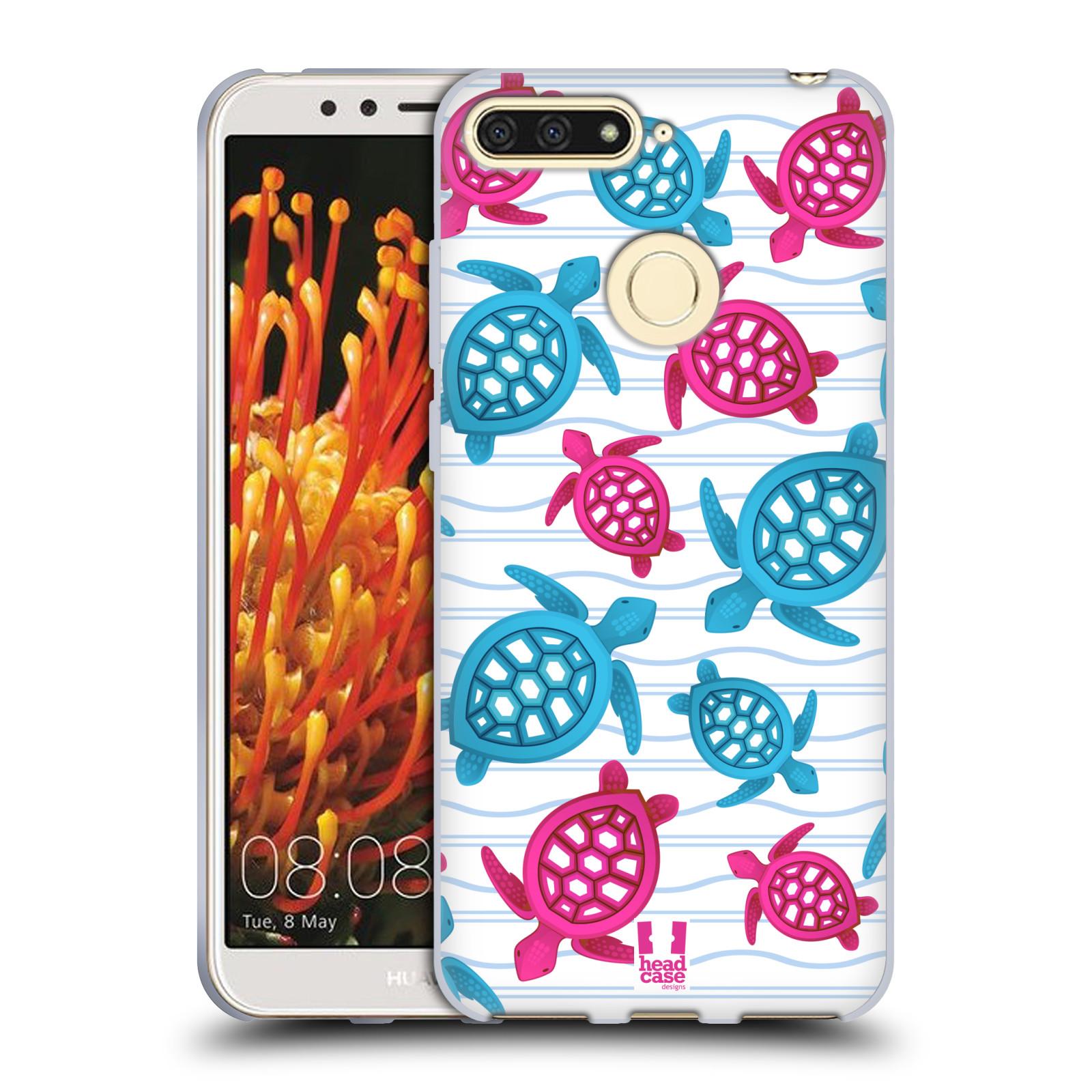 HEAD CASE silikonový obal na mobil HUAWEI Y6 PRIME 2018 vzor mořský  živočich želva modrá a růžová d3615824cfe