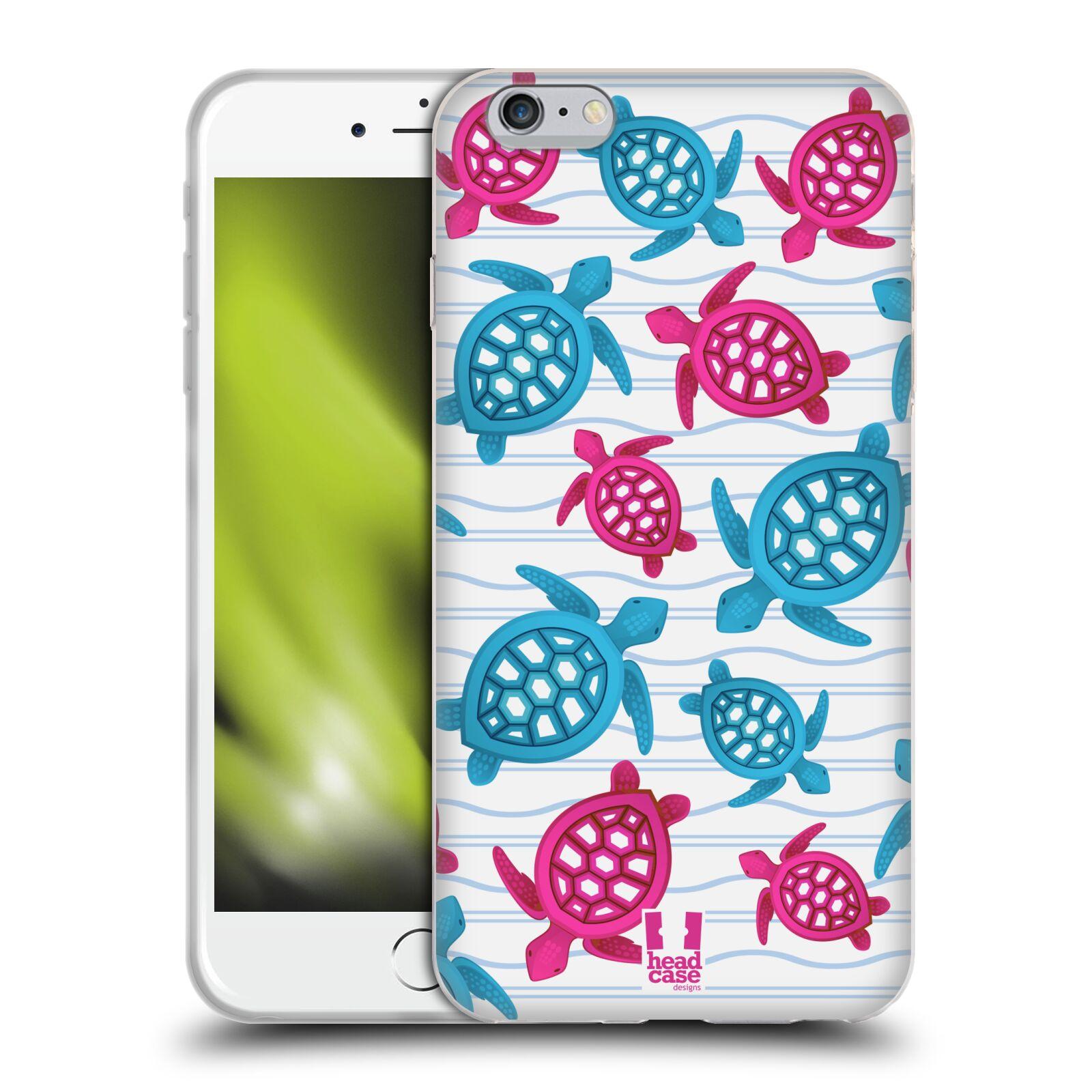 HEAD CASE silikonový obal na mobil Apple Iphone 6 PLUS/ 6S PLUS vzor mořský živočich želva modrá a růžová