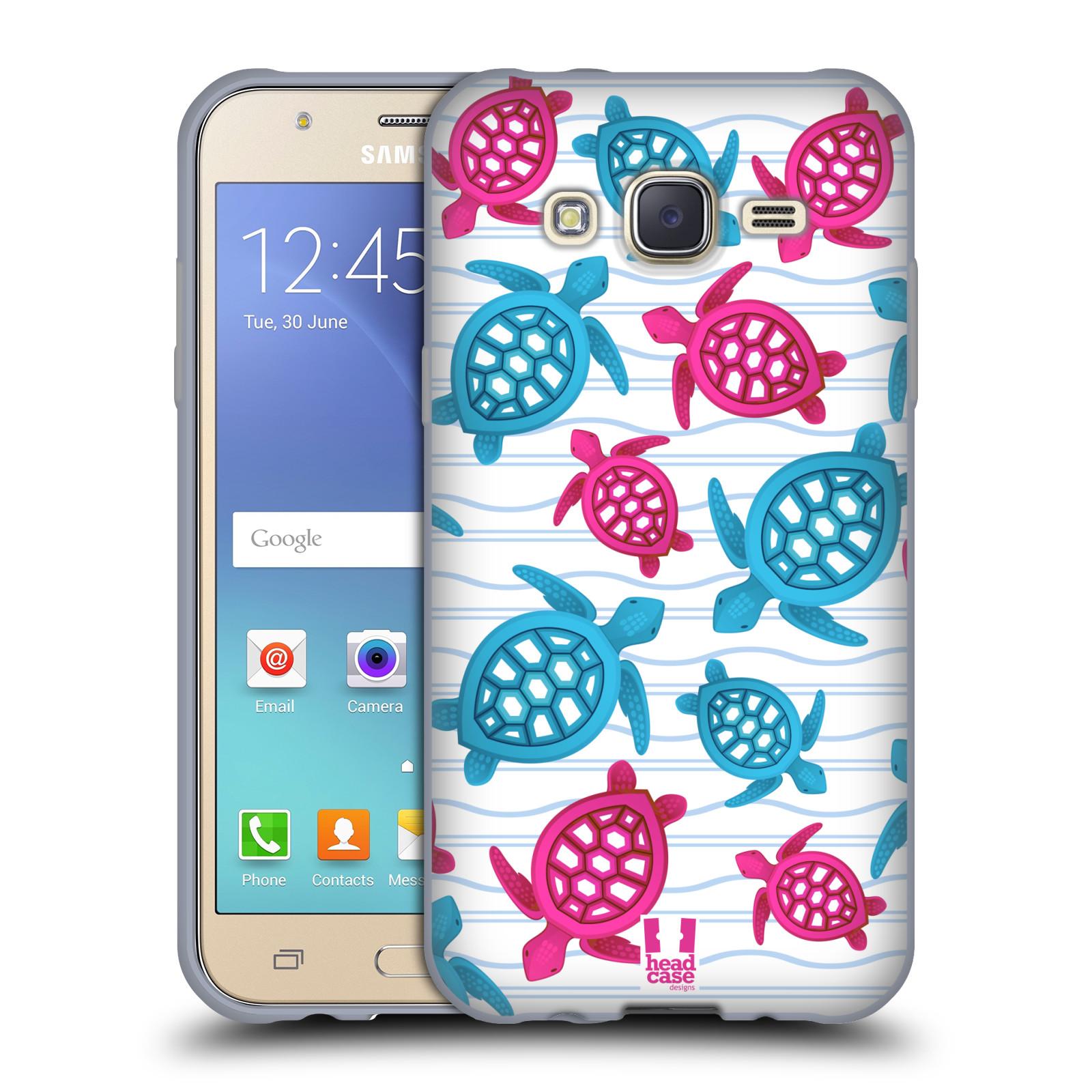 HEAD CASE silikonový obal na mobil Samsung Galaxy J5, J500, (J5 DUOS) vzor mořský živočich želva modrá a růžová