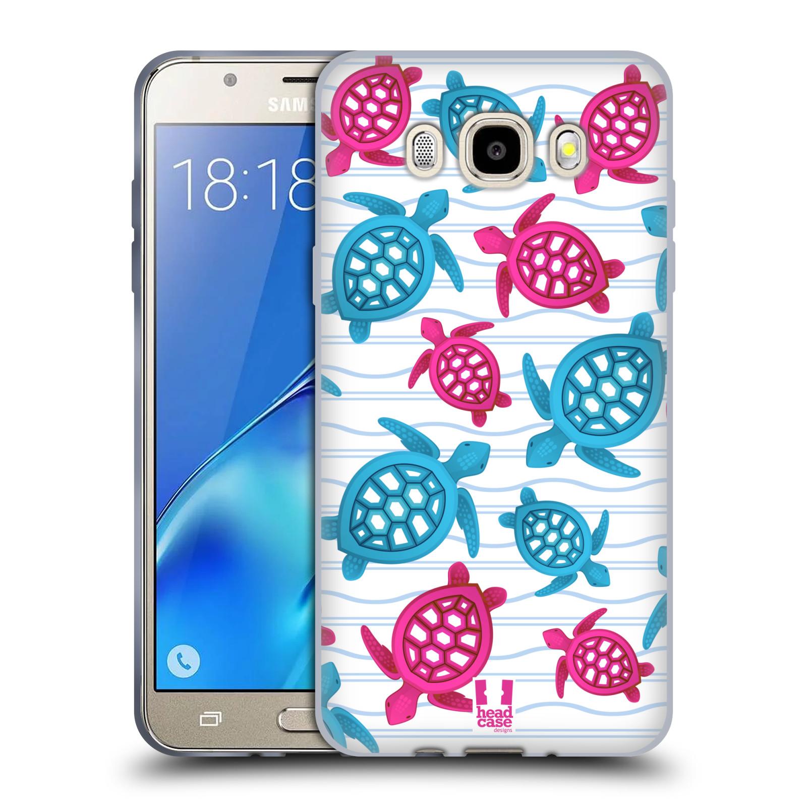 HEAD CASE silikonový obal, kryt na mobil Samsung Galaxy J5 2016, J510, J510F, (J510F DUAL SIM) vzor mořský živočich želva modrá a růžová