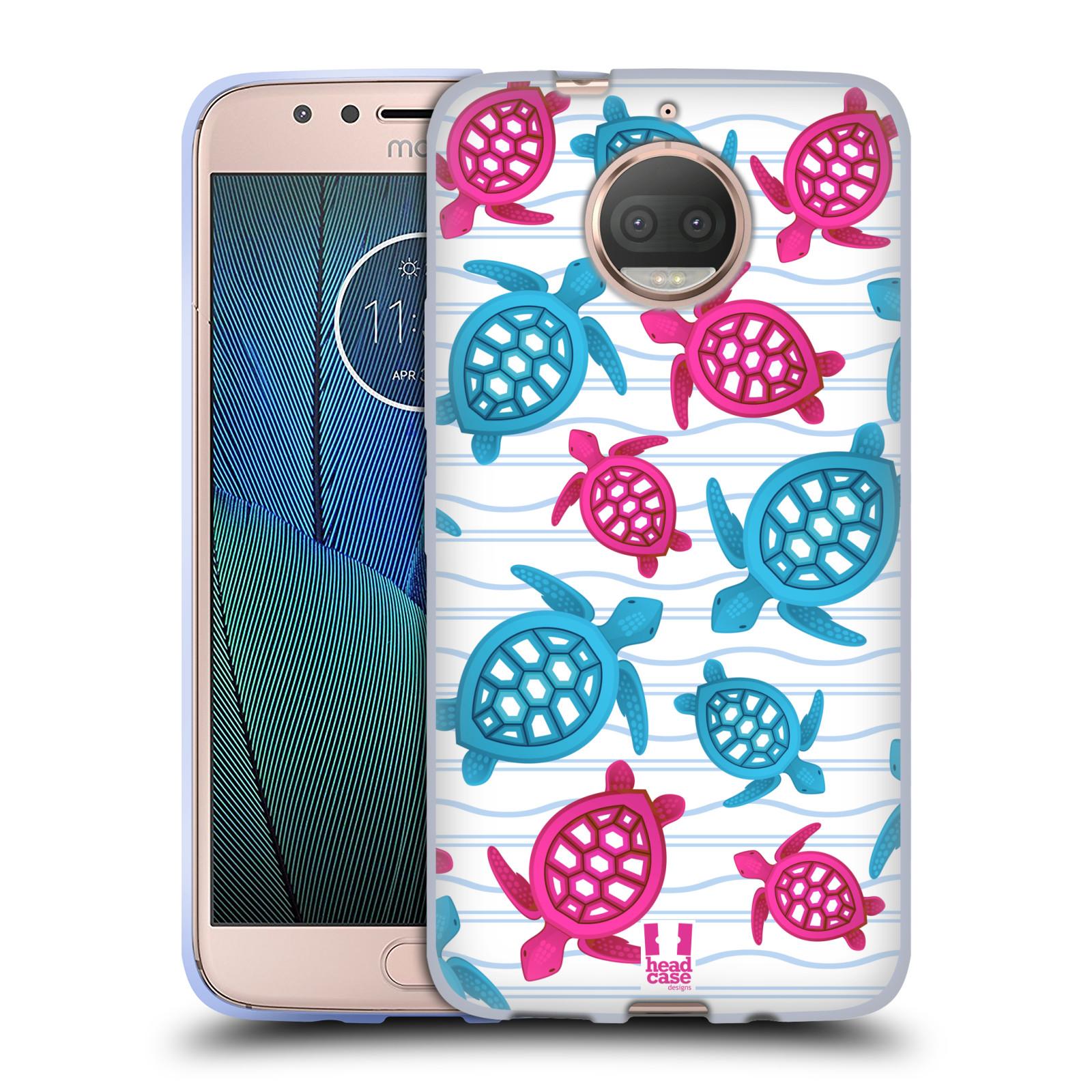 HEAD CASE silikonový obal na mobil Lenovo Moto G5s PLUS vzor mořský živočich želva modrá a růžová
