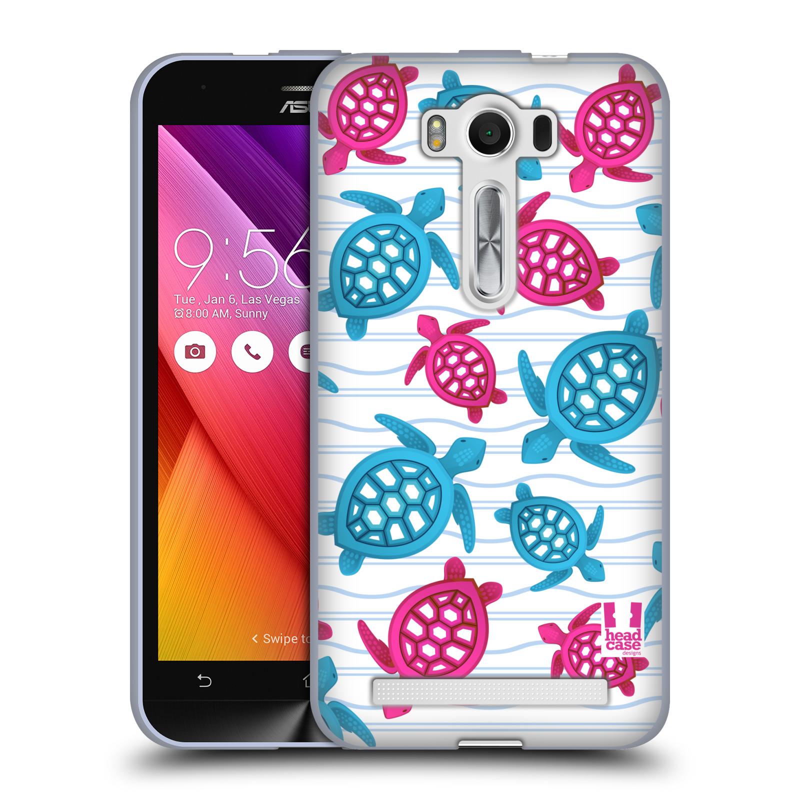 """HEAD CASE silikonový obal na mobil Asus Zenfone 2 LASER (ZE500KL s 5"""" displejem) vzor mořský živočich želva modrá a růžová"""