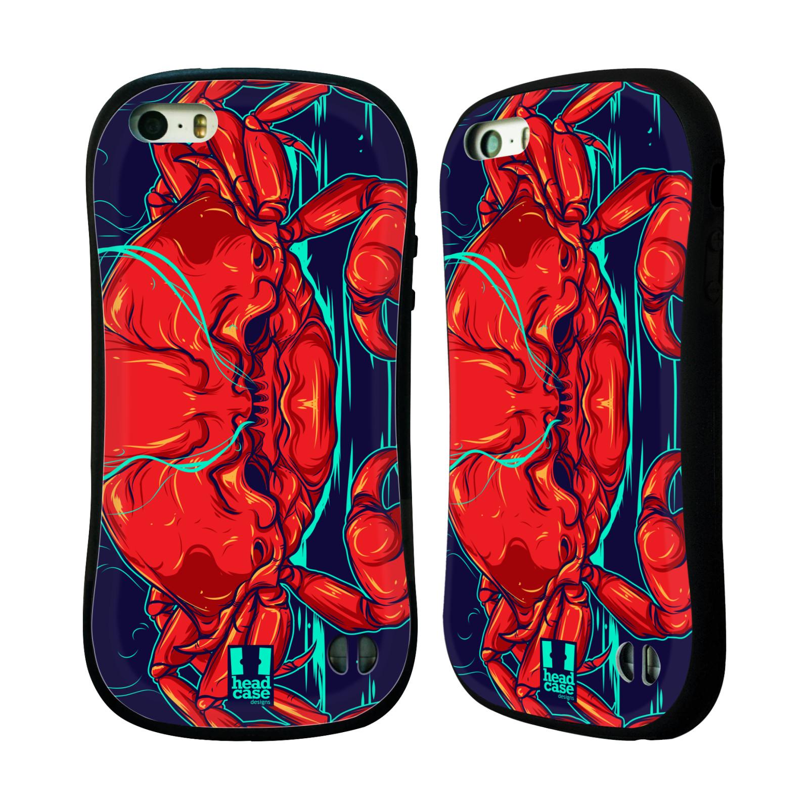 HEAD CASE silikon/plast odolný obal na mobil Apple Iphone 5/5S vzor mořská monstra krab
