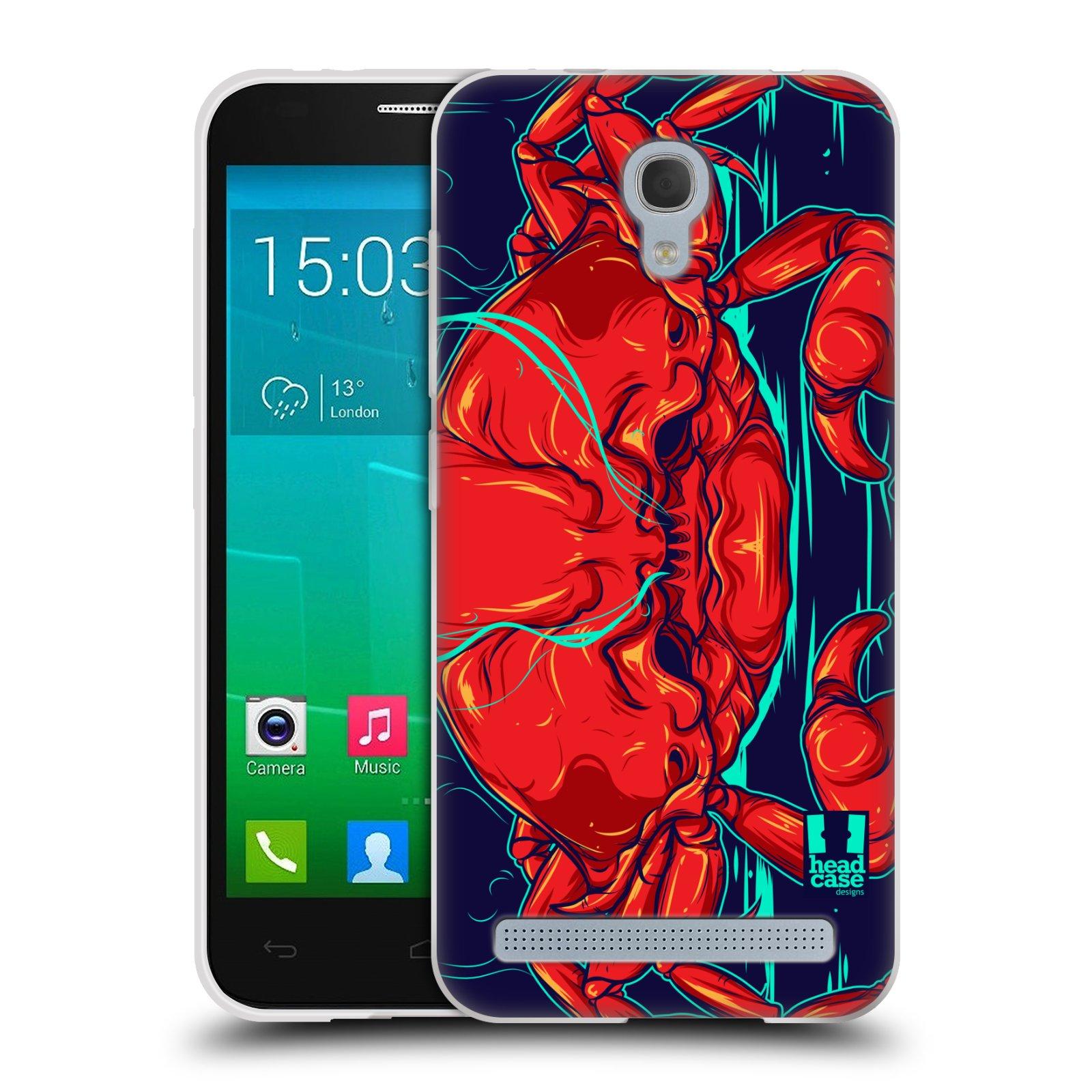 HEAD CASE silikonový obal na mobil Alcatel Idol 2 MINI S 6036Y vzor mořská monstra krab