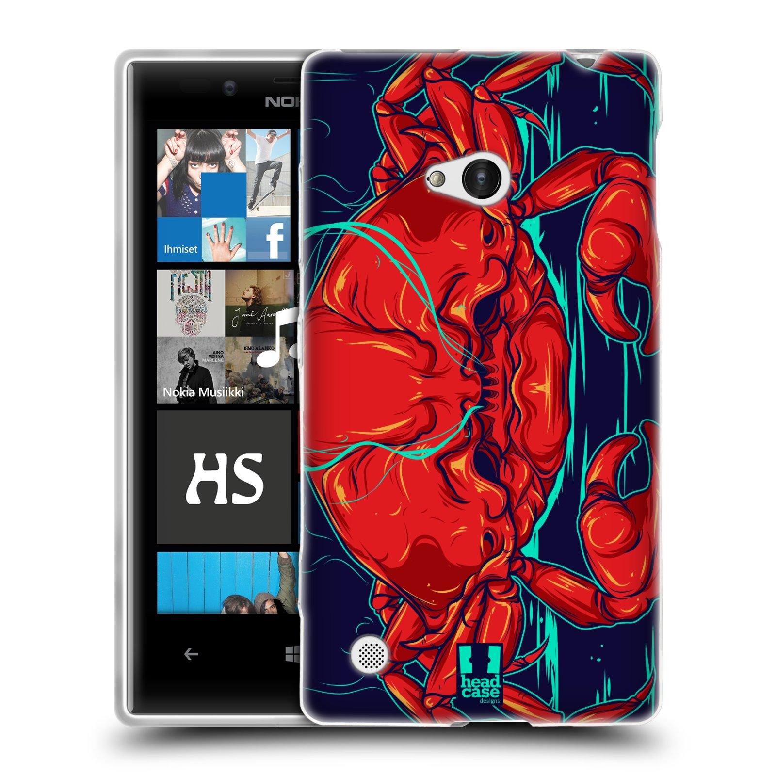 HEAD CASE silikonový obal na mobil NOKIA Lumia 720 vzor mořská monstra krab