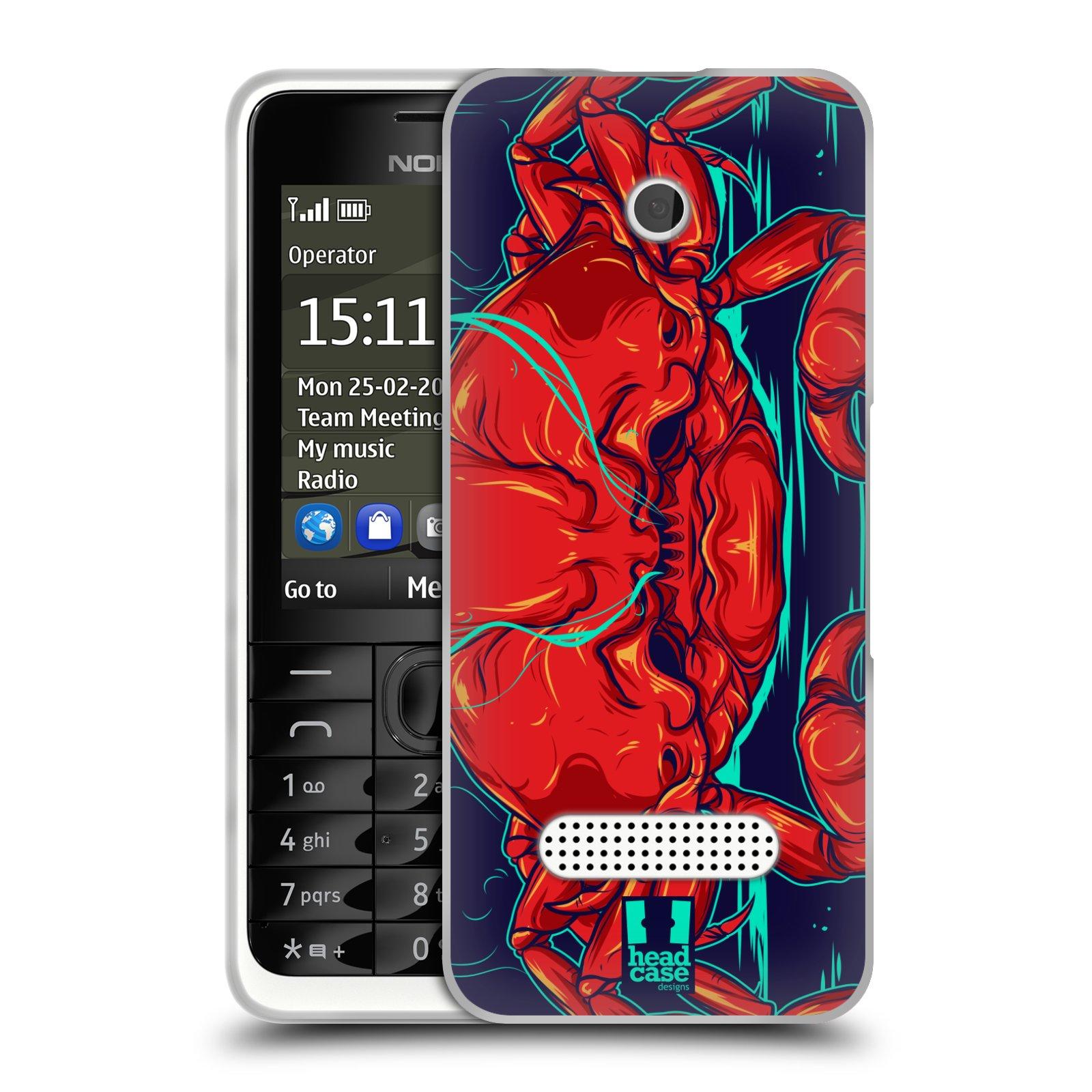 HEAD CASE silikonový obal na mobil NOKIA 301 vzor mořská monstra krab