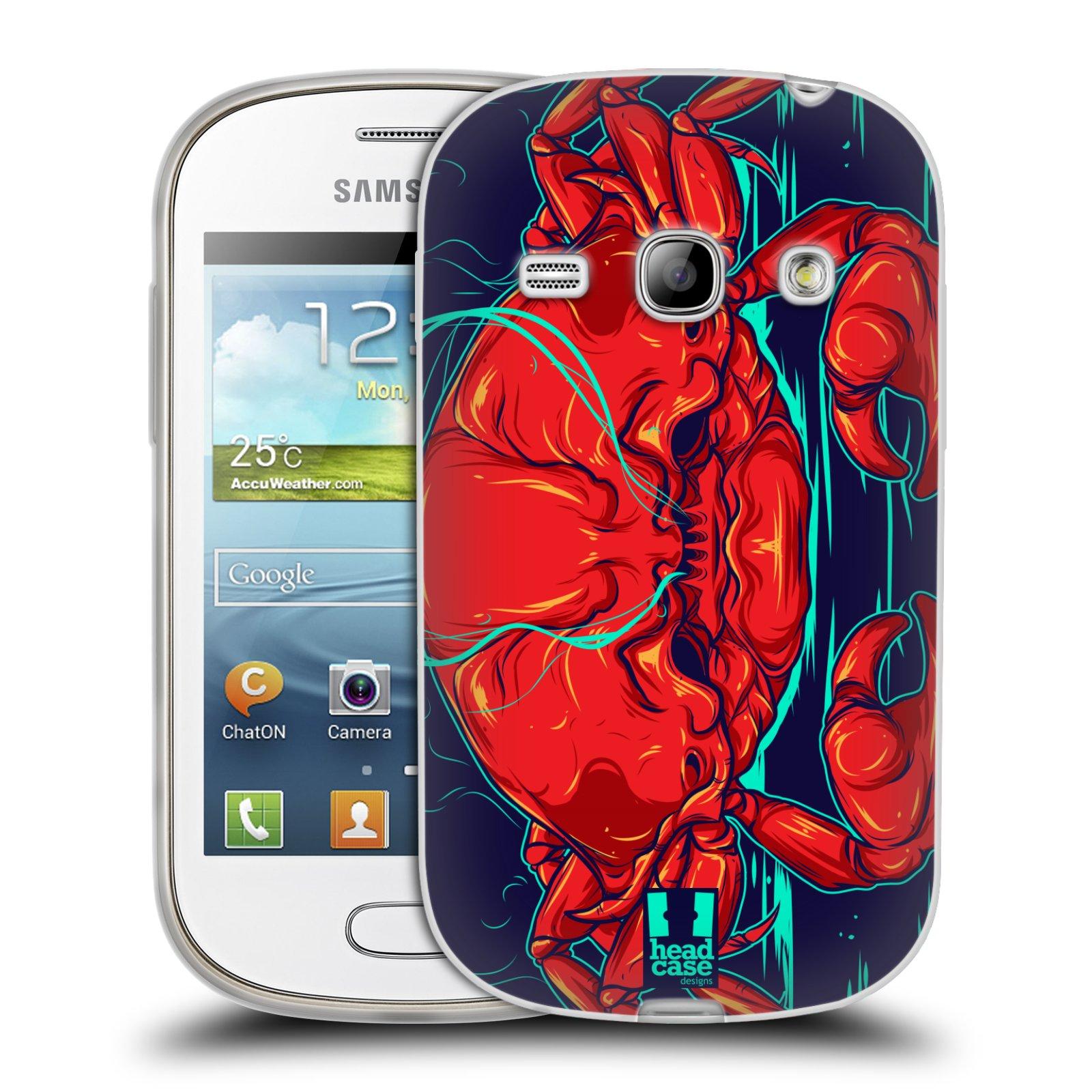HEAD CASE silikonový obal na mobil Samsung Galaxy FAME vzor mořská monstra krab