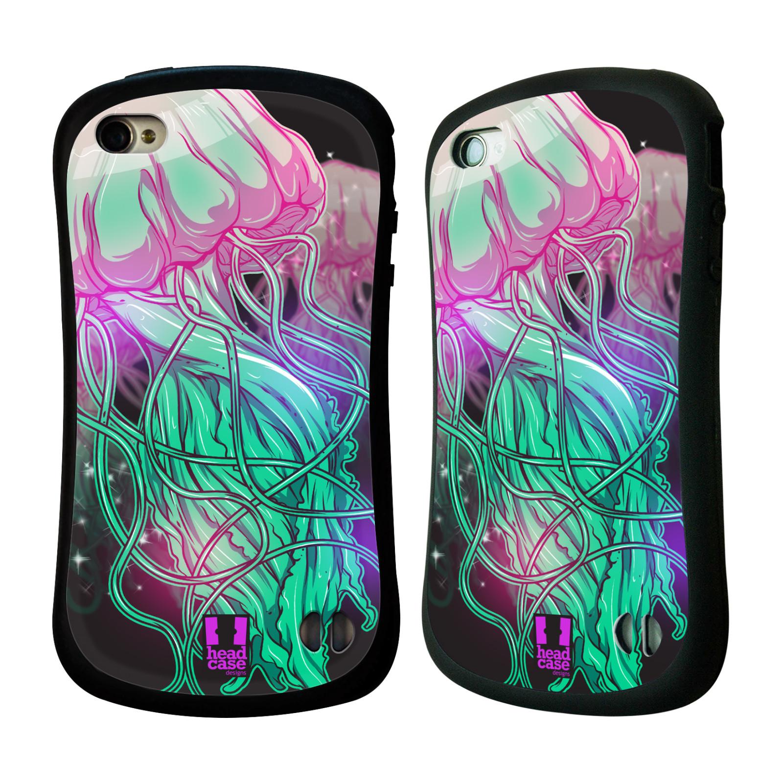 HEAD CASE silikon/plast odolný obal na mobil Apple Iphone 4/4S vzor mořská monstra medůza