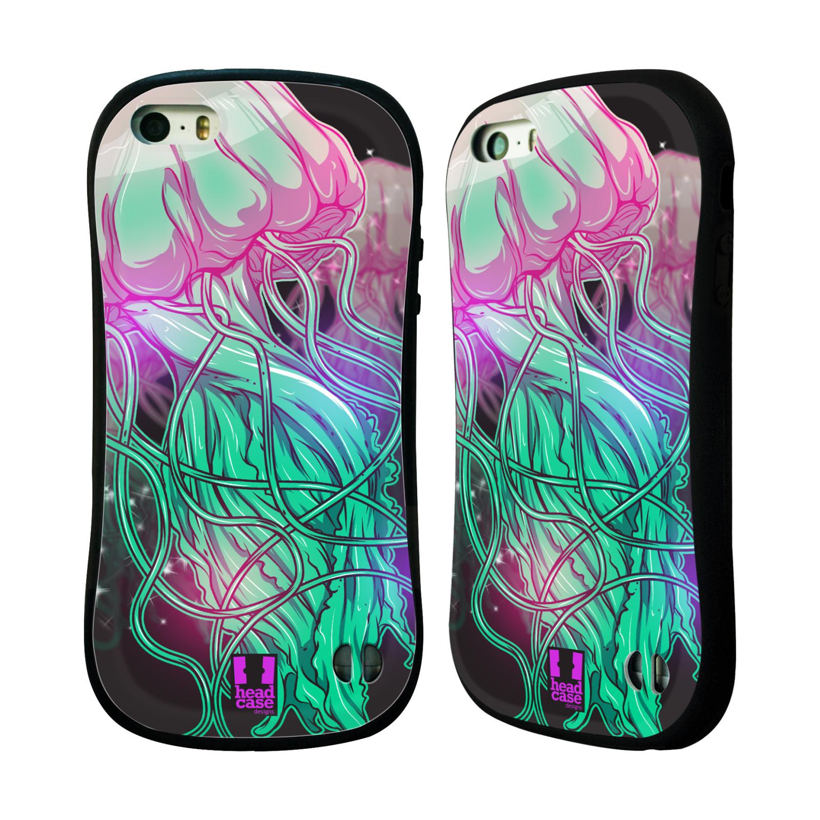 HEAD CASE silikon/plast odolný obal na mobil Apple Iphone 5/5S vzor mořská monstra medůza