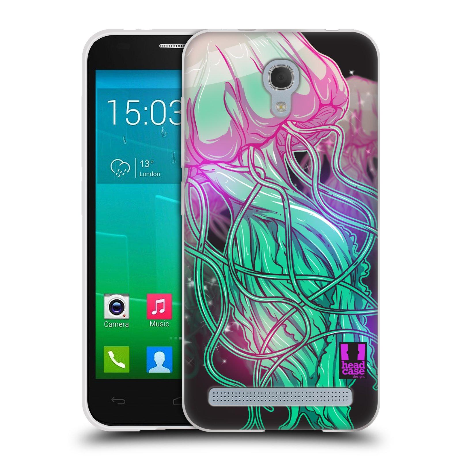 HEAD CASE silikonový obal na mobil Alcatel Idol 2 MINI S 6036Y vzor mořská monstra medůza