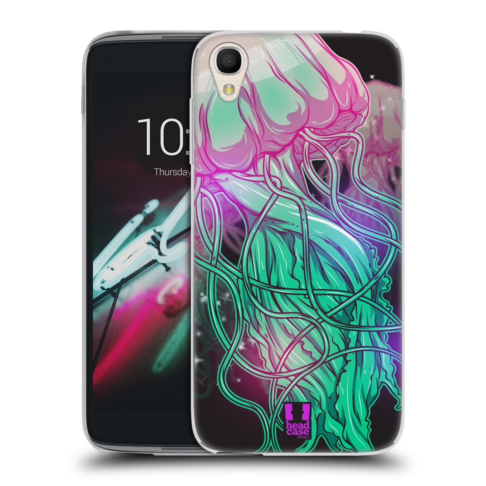 HEAD CASE silikonový obal na mobil Alcatel Idol 3 OT-6039Y (4.7) vzor mořská monstra medůza
