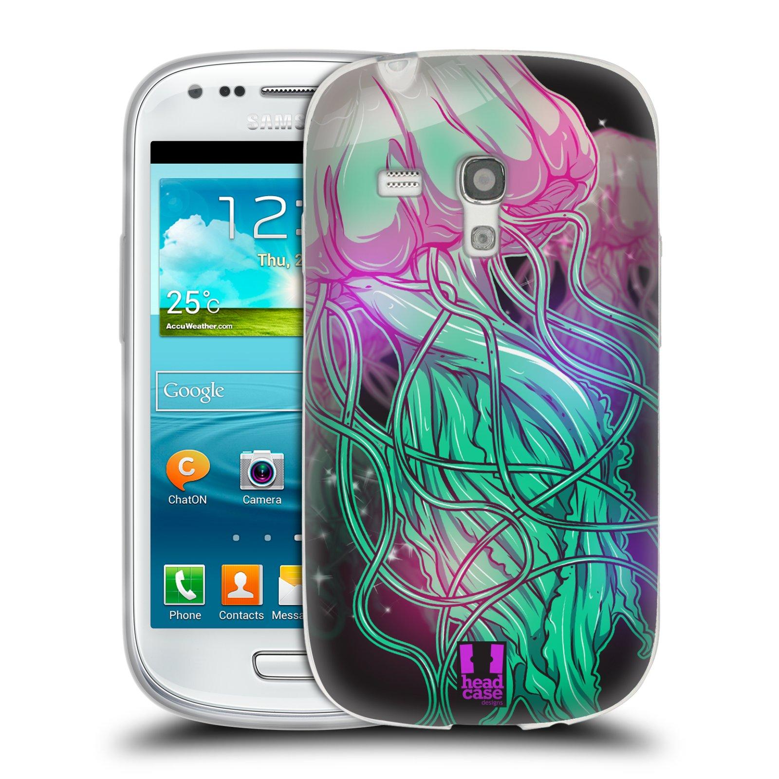 HEAD CASE silikonový obal na mobil Samsung Galaxy S3 MINI i8190 vzor mořská monstra medůza