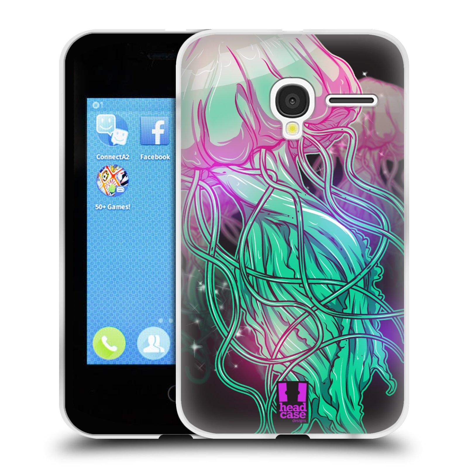 HEAD CASE silikonový obal na mobil Alcatel PIXI 3 OT-4022D (3,5 palcový displej) vzor mořská monstra medůza