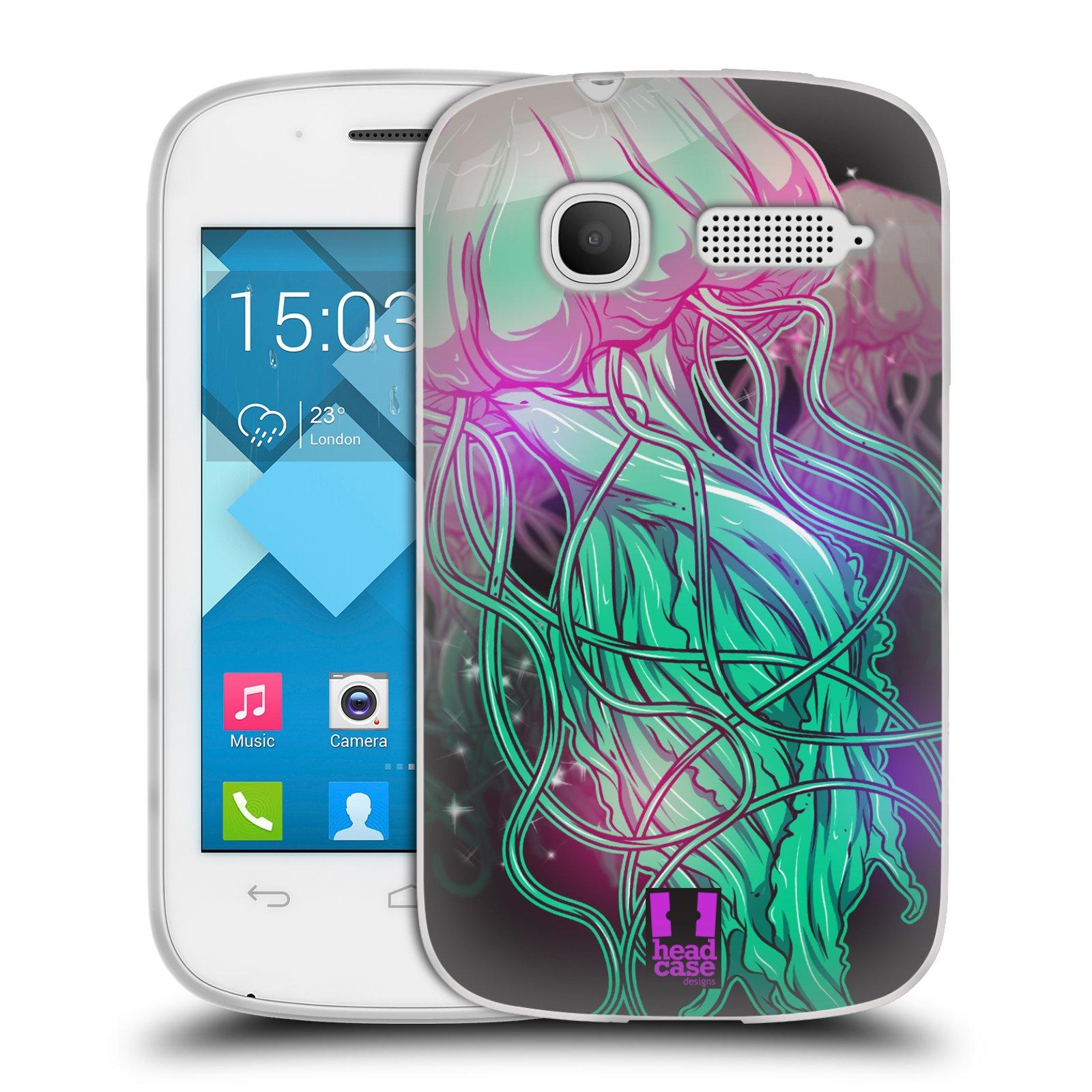 HEAD CASE silikonový obal na mobil Alcatel POP C1 OT-4015D vzor mořská monstra medůza