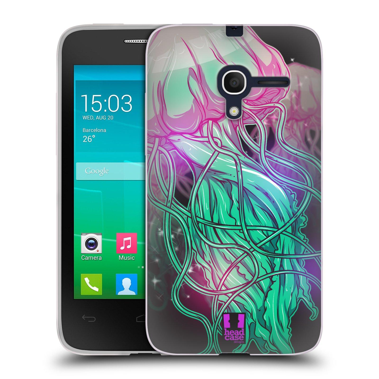 HEAD CASE silikonový obal na mobil Alcatel POP D3 OT-4035D vzor mořská monstra medůza