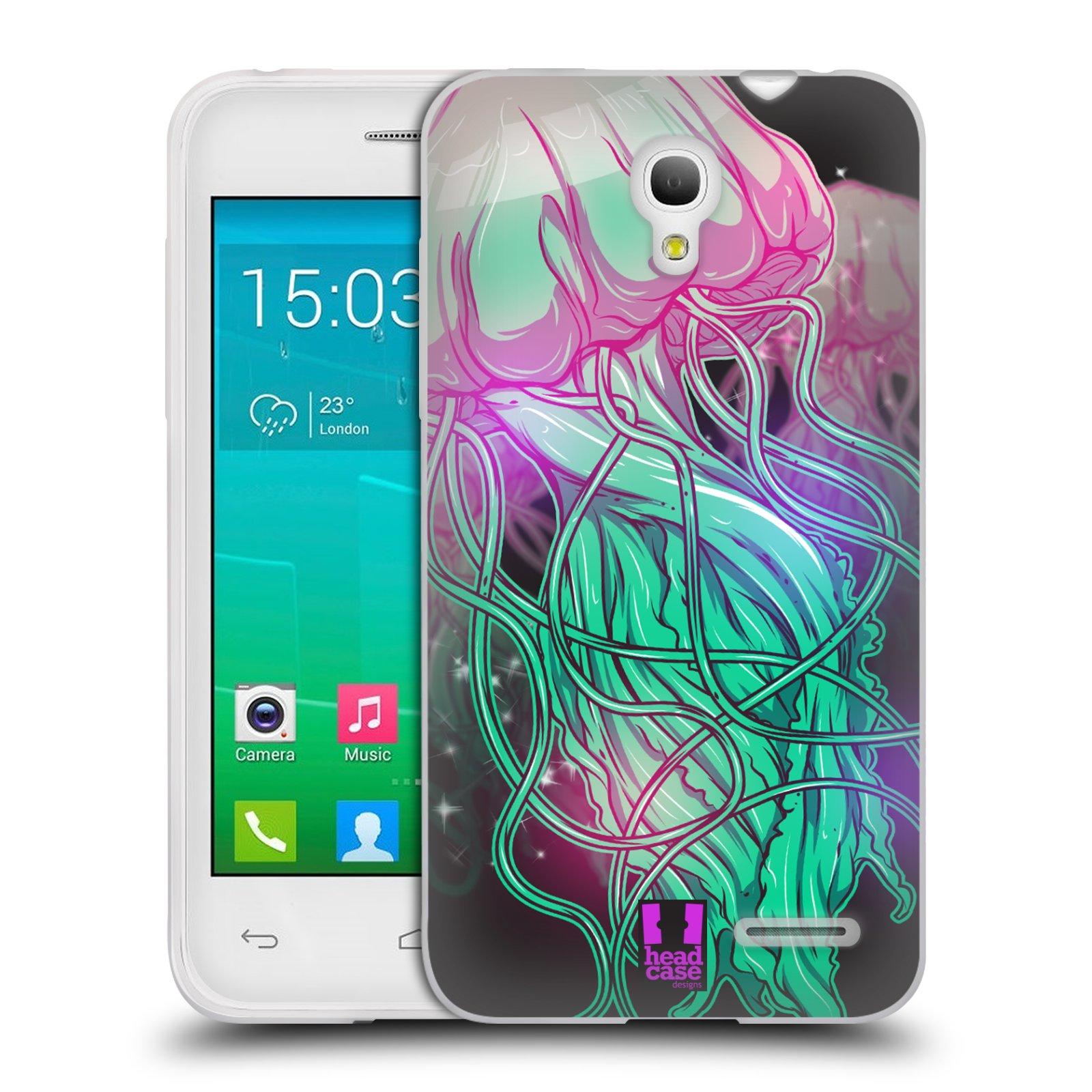HEAD CASE silikonový obal na mobil Alcatel POP S3 OT-5050Y vzor mořská monstra medůza
