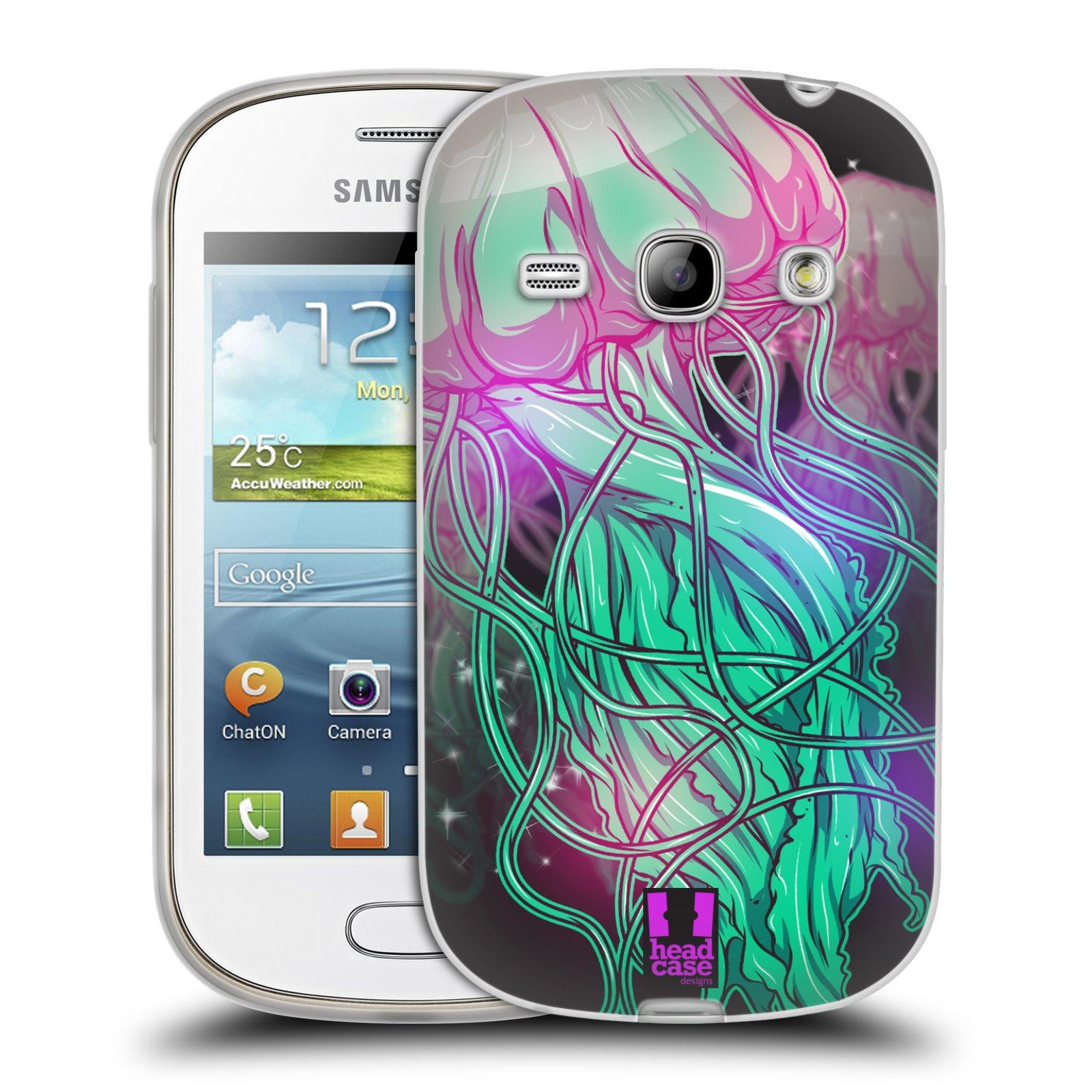 HEAD CASE silikonový obal na mobil Samsung Galaxy FAME vzor mořská monstra medůza