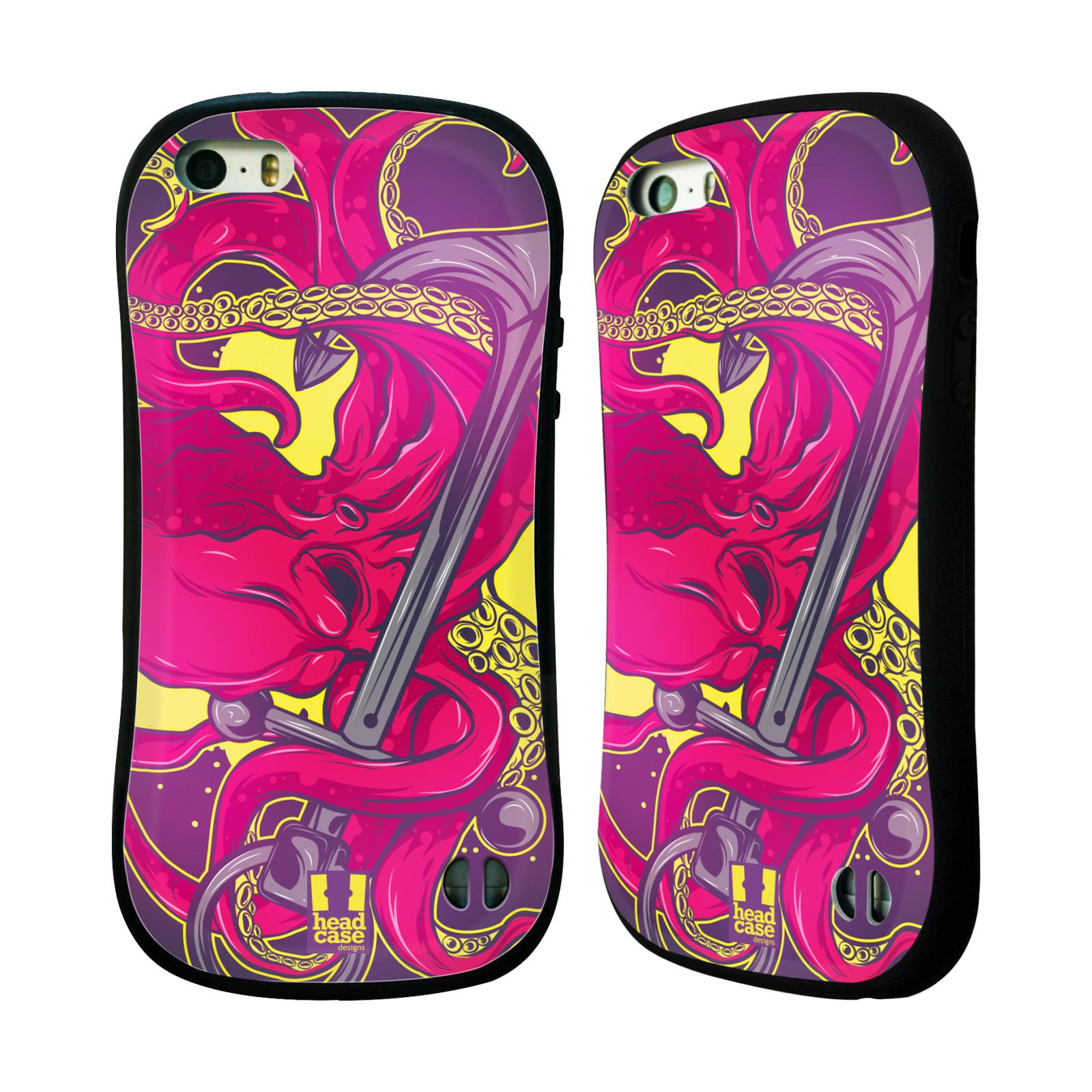 HEAD CASE silikon/plast odolný obal na mobil Apple Iphone 5/5S vzor mořská monstra chobotnice