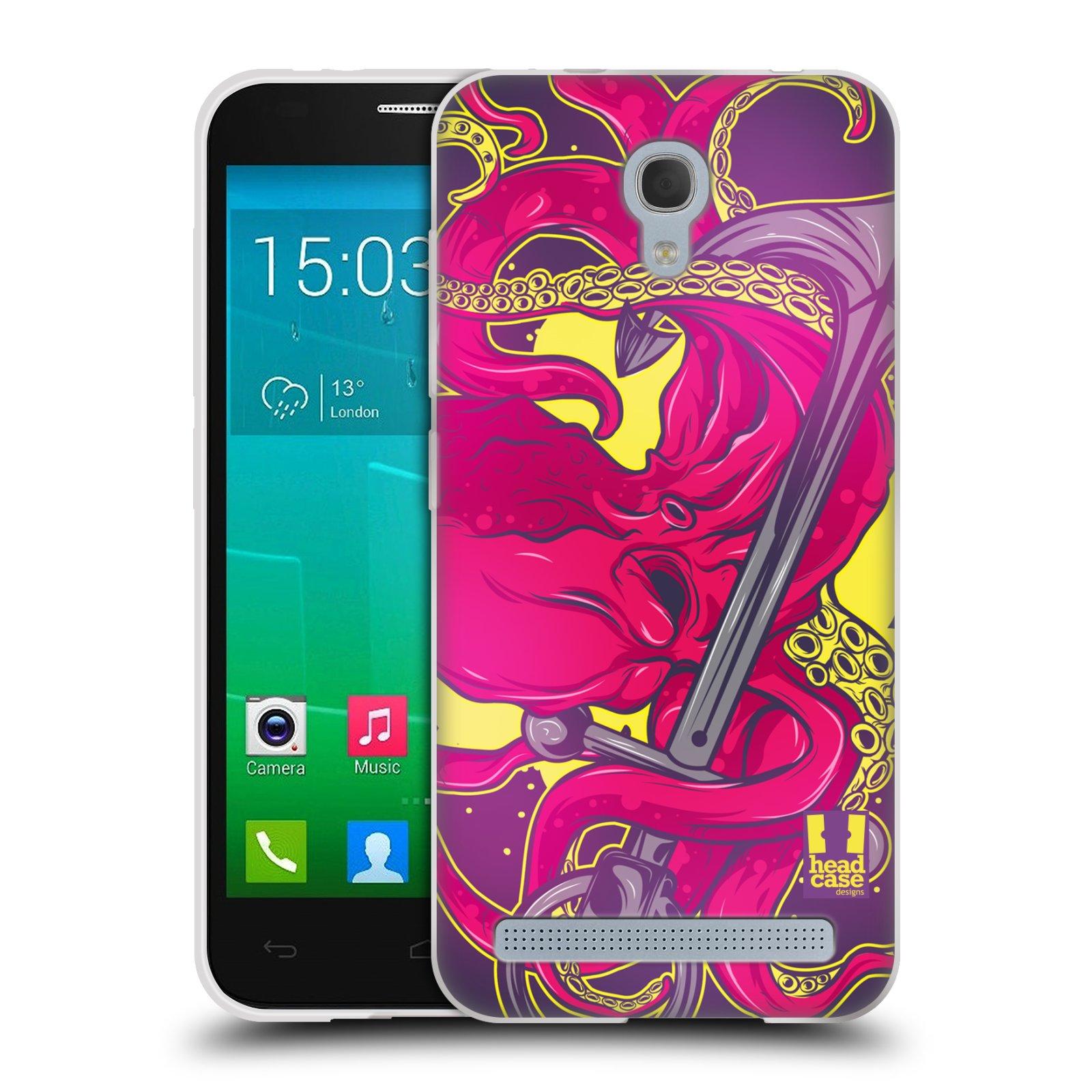 HEAD CASE silikonový obal na mobil Alcatel Idol 2 MINI S 6036Y vzor mořská monstra chobotnice