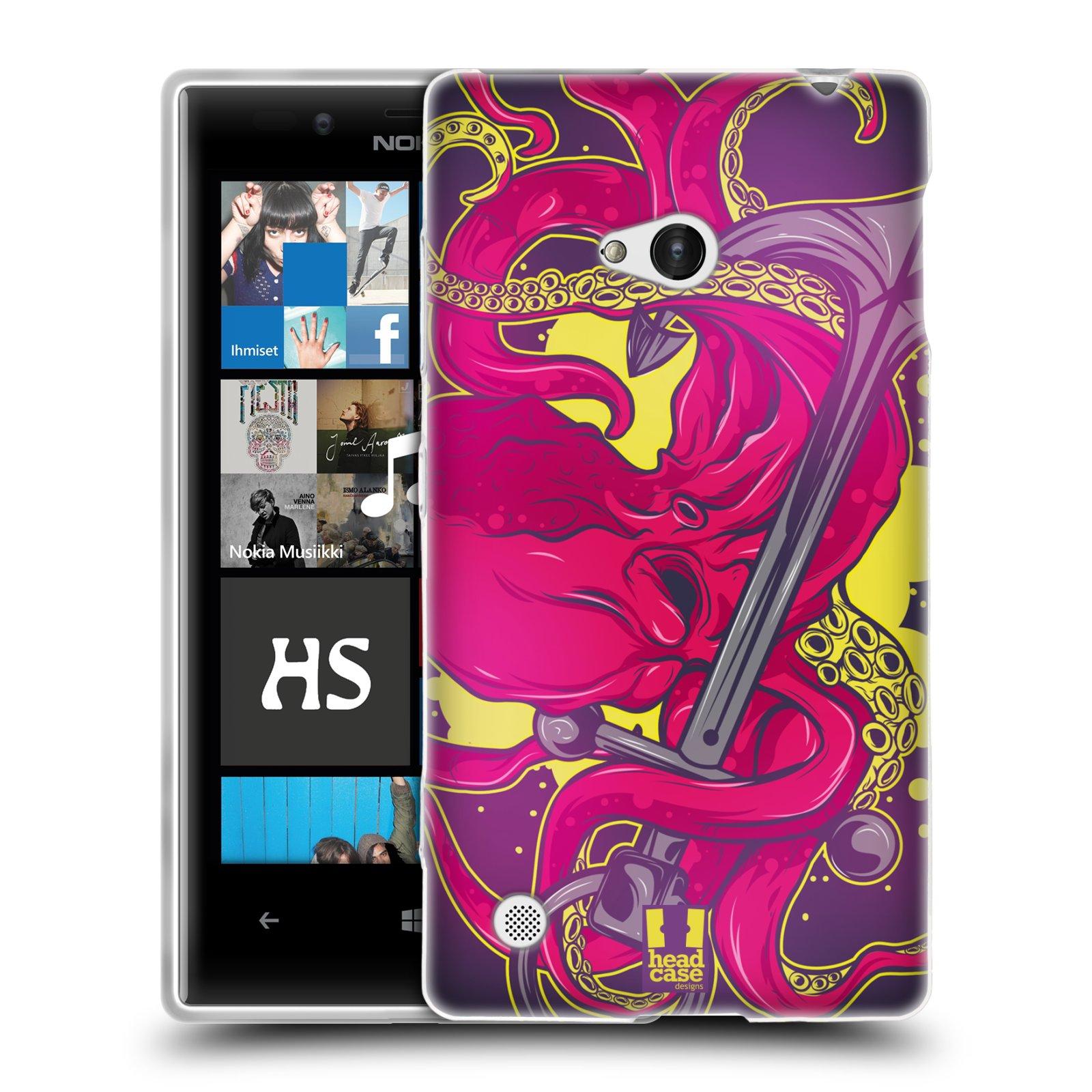 HEAD CASE silikonový obal na mobil NOKIA Lumia 720 vzor mořská monstra chobotnice