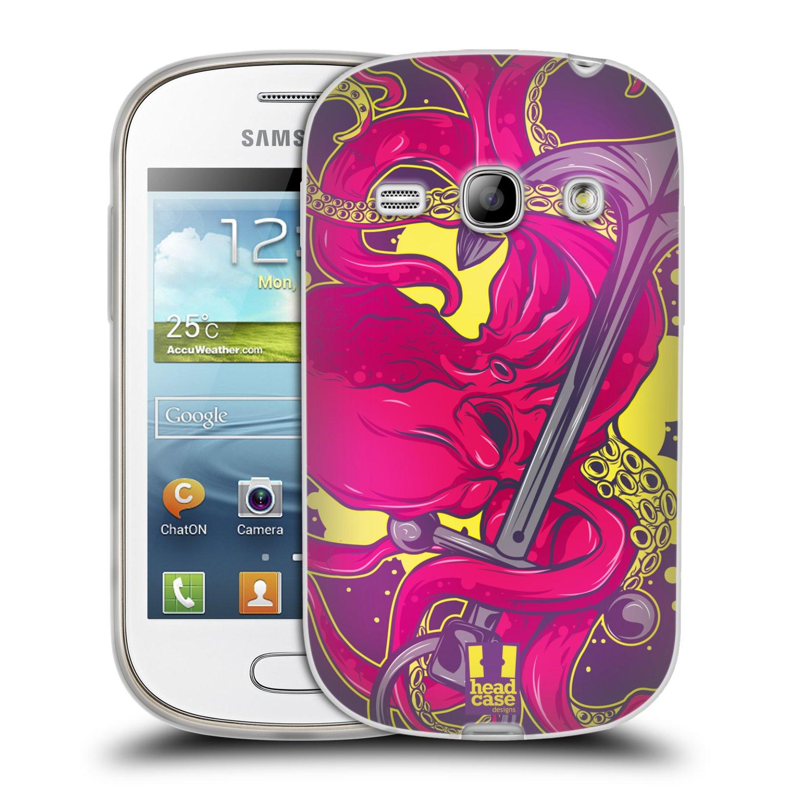HEAD CASE silikonový obal na mobil Samsung Galaxy FAME vzor mořská monstra chobotnice