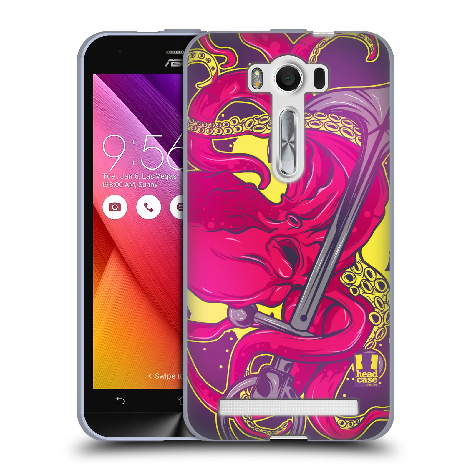 "HEAD CASE silikonový obal na mobil Asus Zenfone 2 LASER (ZE500KL s 5"" displejem) vzor mořská monstra chobotnice"