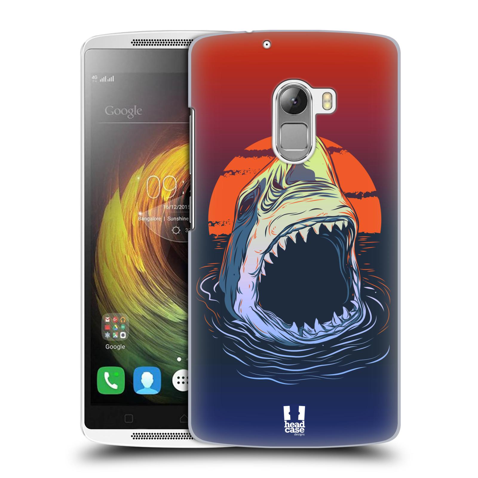HEAD CASE pevný plastový obal na mobil LENOVO A7010 / A7010 DUAL / K4 Note / Vibe X3 lite vzor mořská monstra žralok