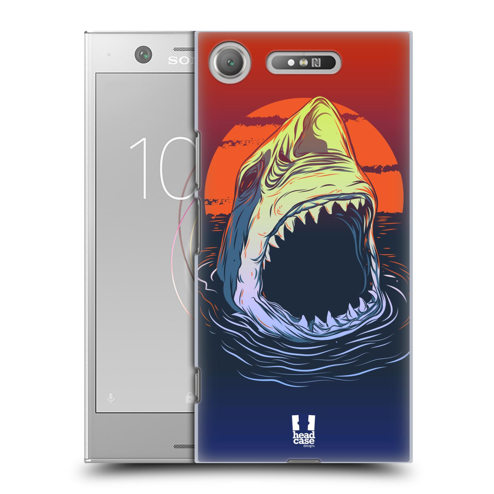HEAD CASE plastový obal na mobil Sony Xperia XZ1 vzor mořská monstra žralok
