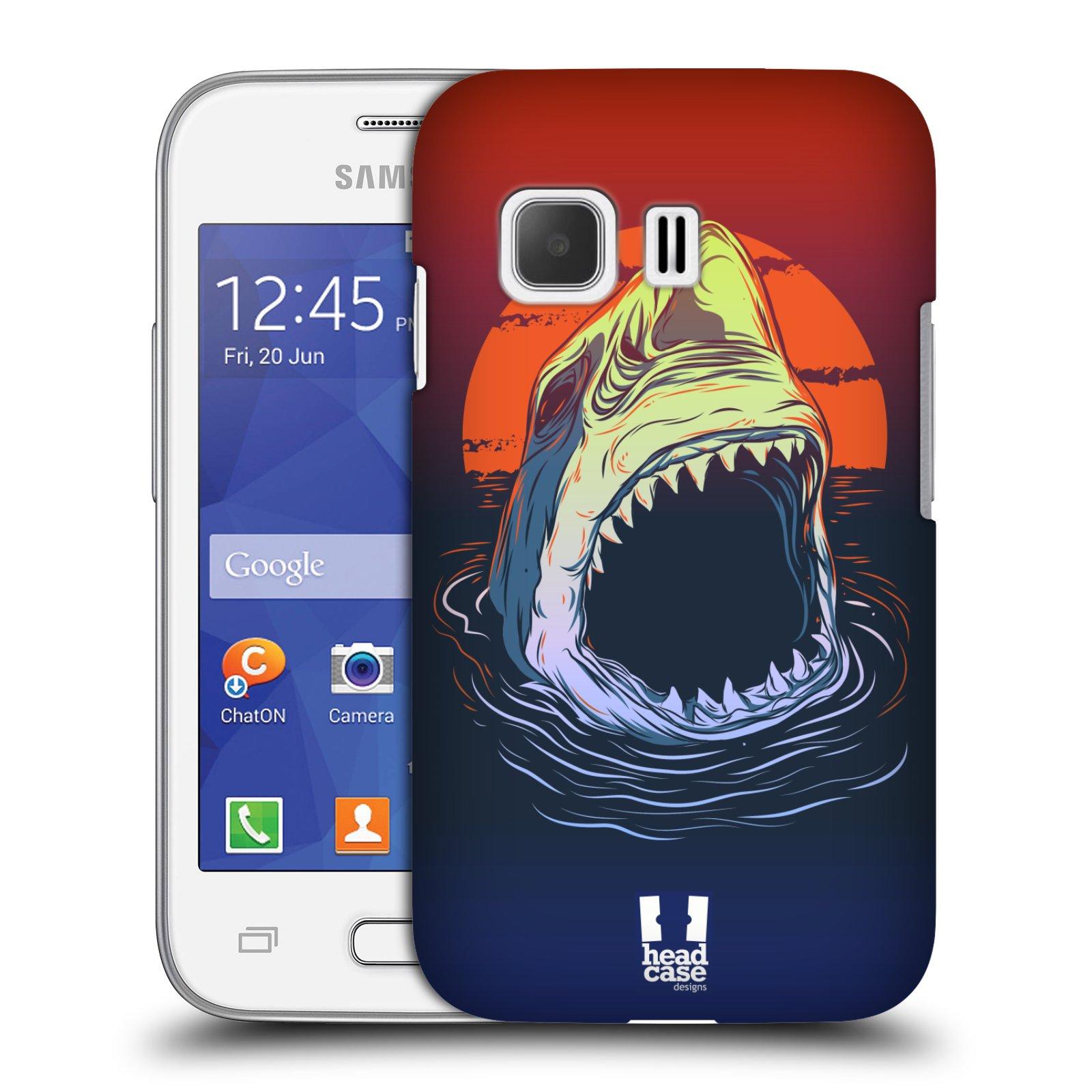 HEAD CASE plastový obal na mobil SAMSUNG Galaxy Young 2 (G130) vzor mořská monstra žralok