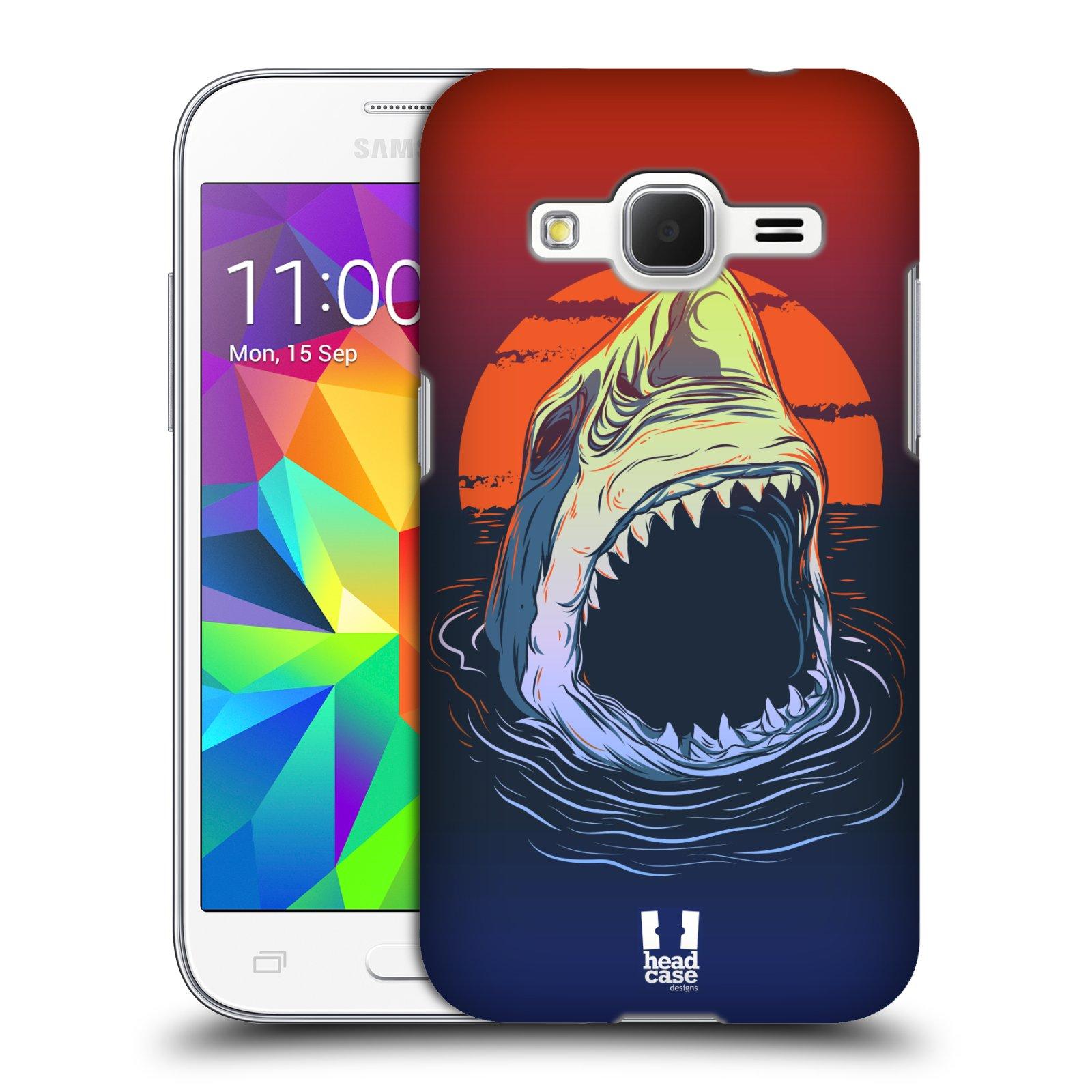HEAD CASE plastový obal na mobil SAMSUNG GALAXY Core Prime (Core Prime VE) vzor mořská monstra žralok