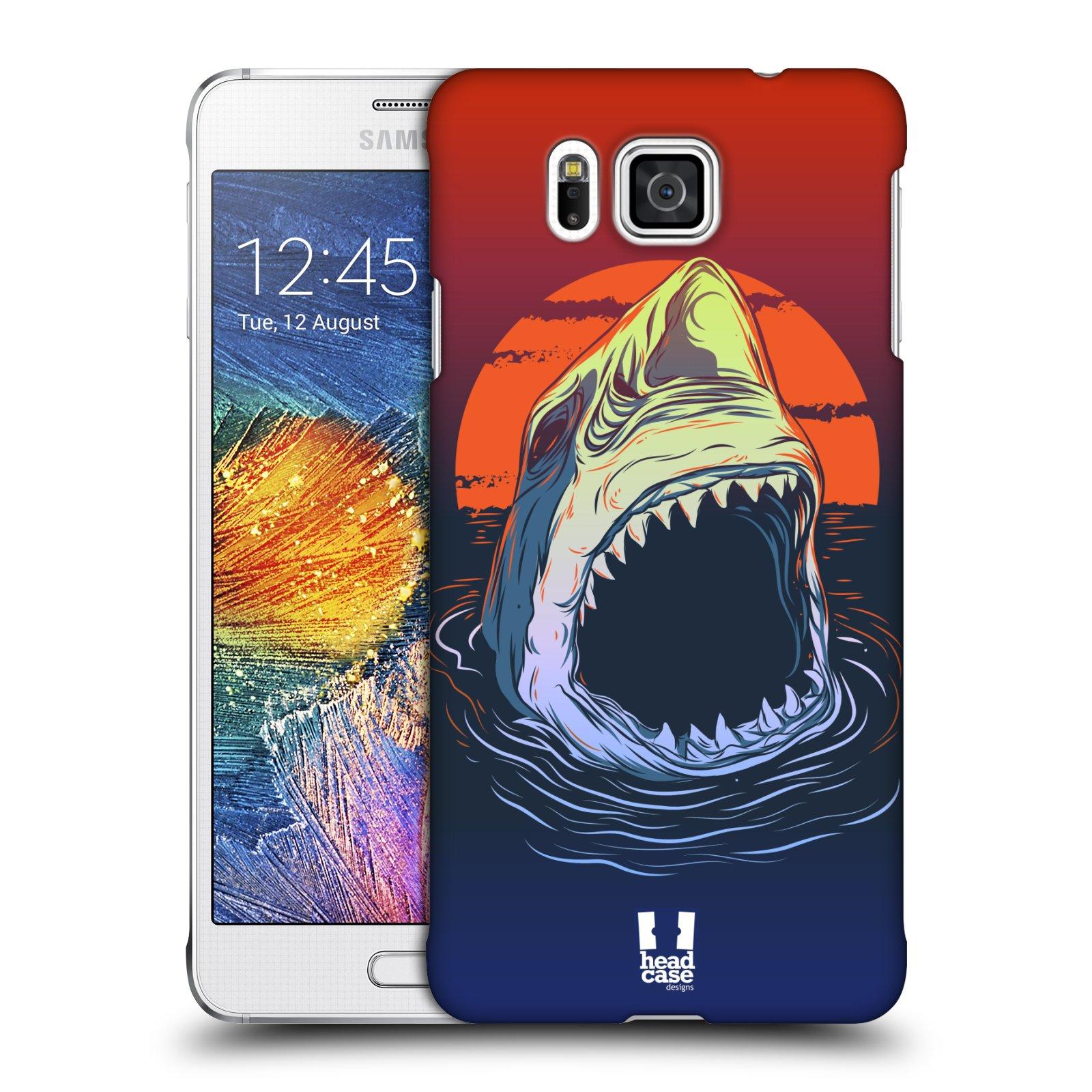 HEAD CASE plastový obal na mobil SAMSUNG Galaxy Alpha (G850) vzor mořská monstra žralok