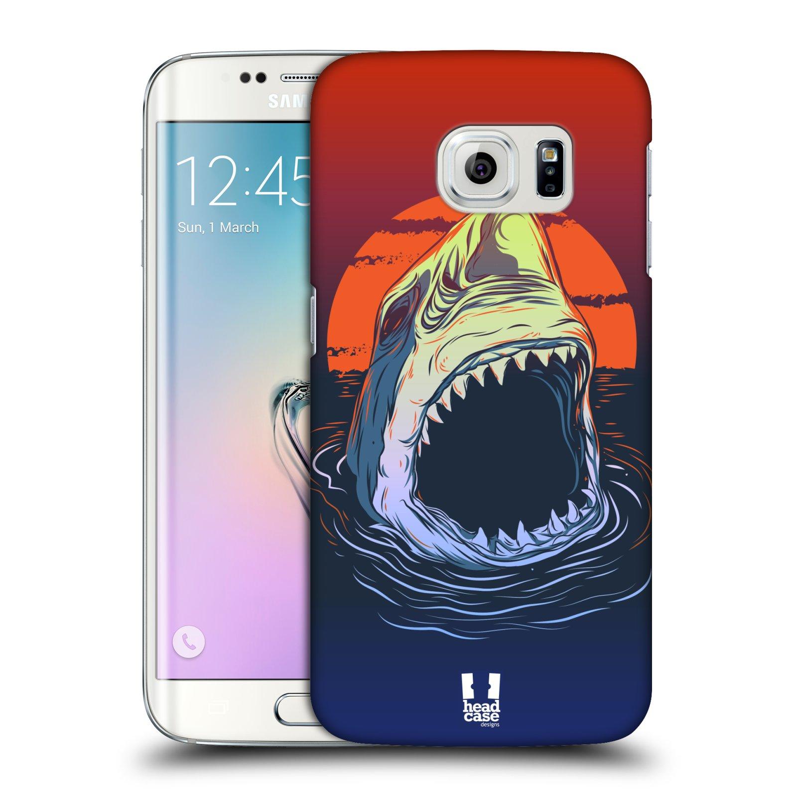 HEAD CASE plastový obal na mobil SAMSUNG Galaxy S6 EDGE (G9250, G925, G925F) vzor mořská monstra žralok