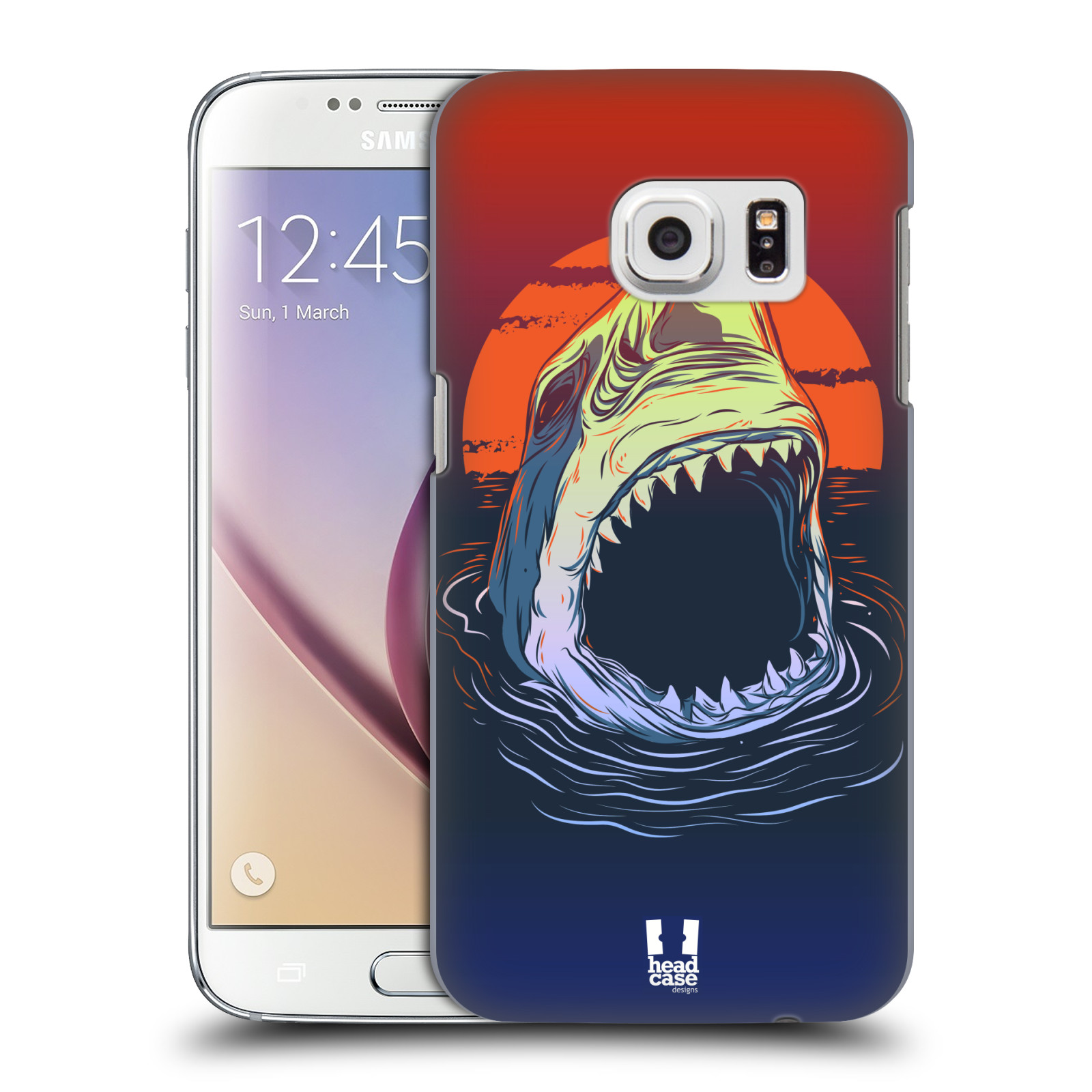 HEAD CASE plastový obal na mobil SAMSUNG GALAXY S7 vzor mořská monstra žralok